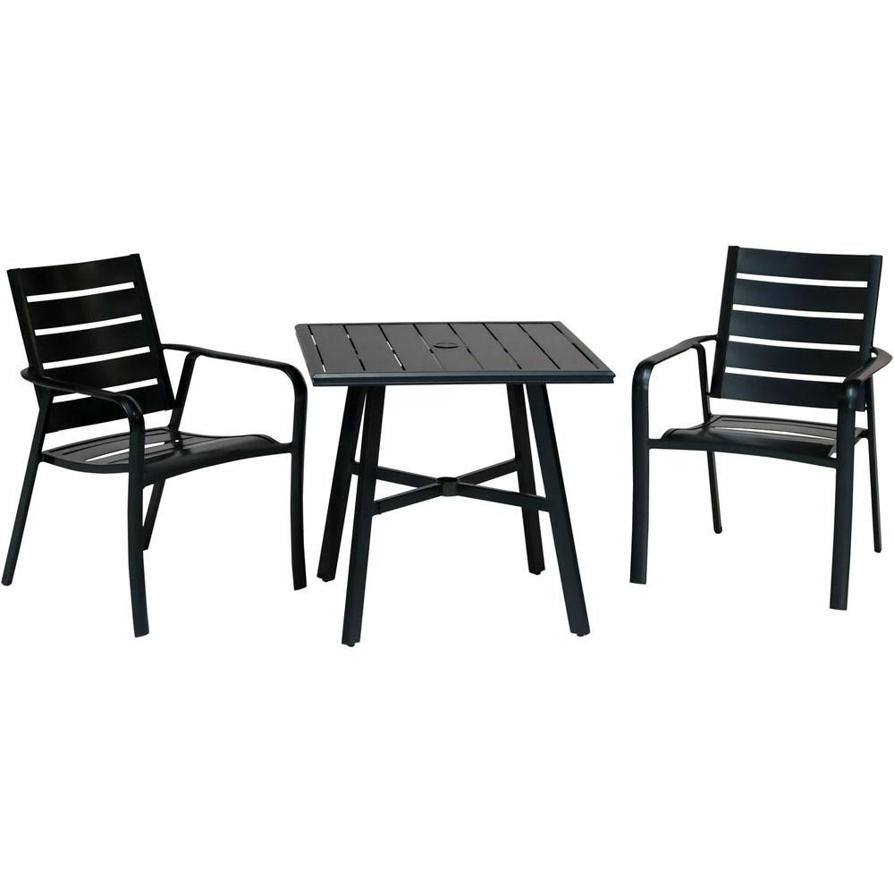 Most Popular Saintcroix 3 Piece Dining Sets Intended For Hanover Cortino 3 Piece Commercial Rust Free Aluminum Outdoor Bistro (View 11 of 20)
