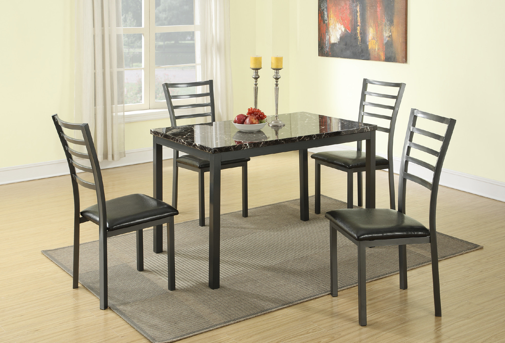 Most Popular Taulbee 5 Piece Dining Sets With Regard To Caenas 5 Piece Dining Set (View 9 of 20)