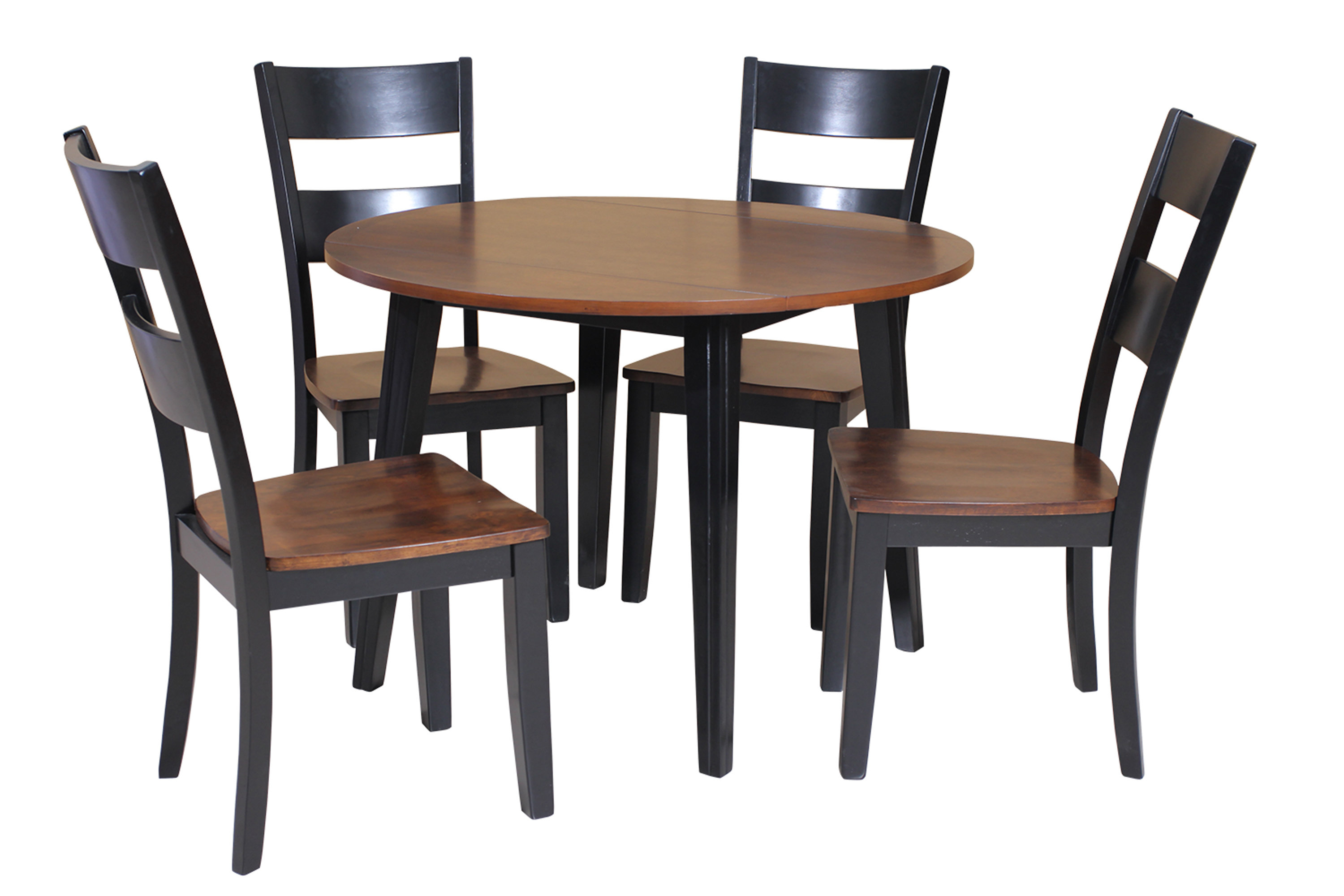 Most Popular West Hill Family Table 3 Piece Dining Sets Regarding Dinh 5 Piece Drop Leaf Solid Wood Dining Set (View 16 of 20)