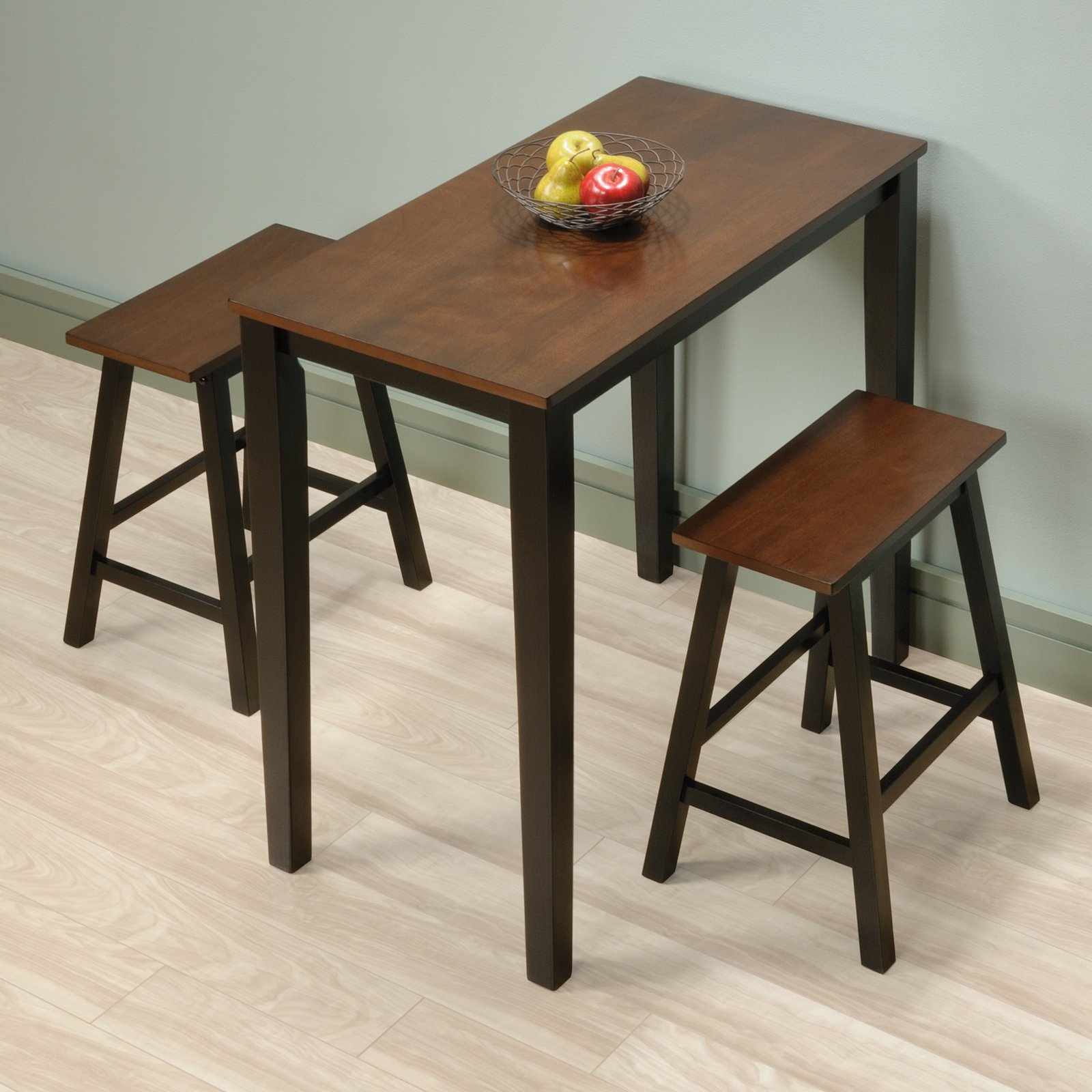 Most Recent 3 Piece Dining Sets Intended For Sauder Beginnings 3 Piece Counter Height Dining Set, Cherry Finish (View 11 of 20)