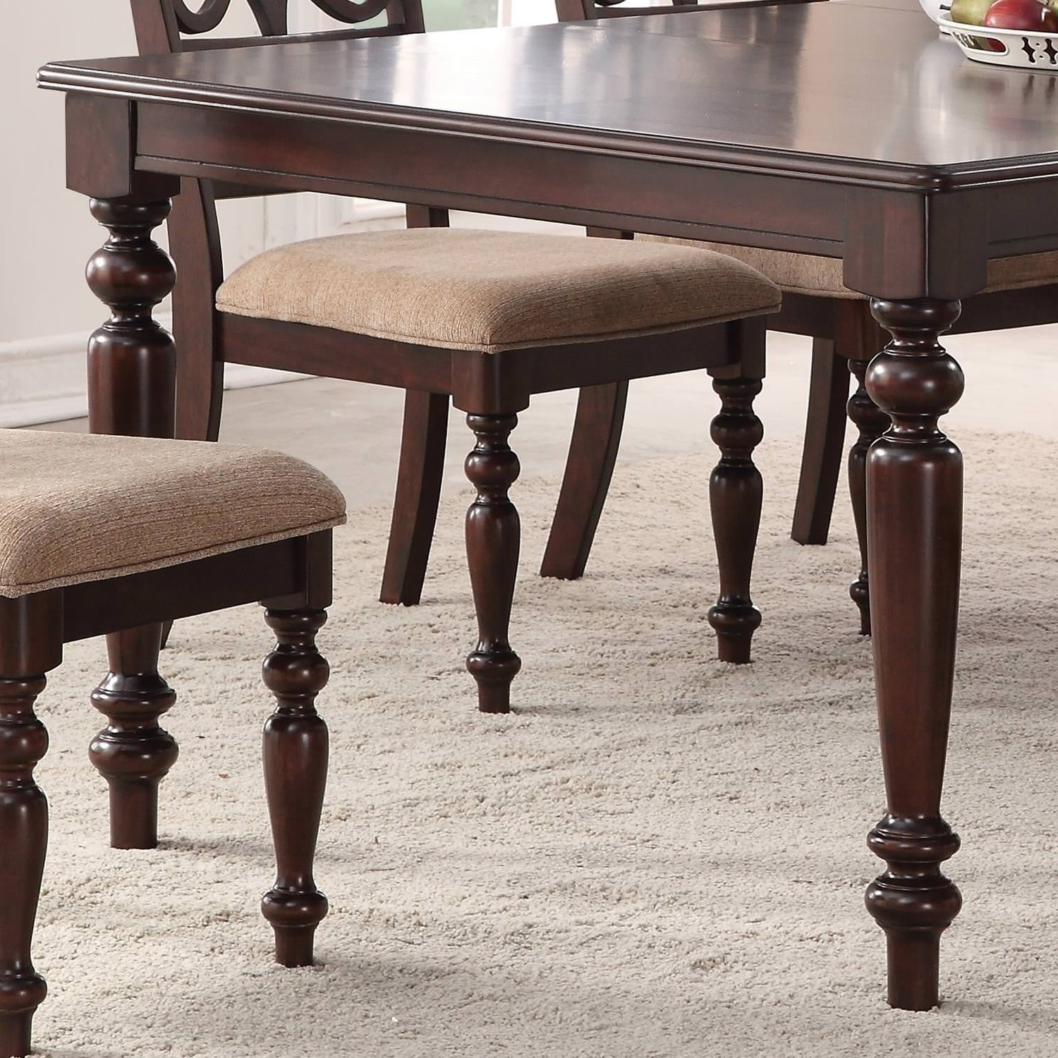 Most Recent Home Source Laconia Walnut 5 Piece Dining Set With Regard To Laconia 7 Pieces Solid Wood Dining Sets (set Of 7) (View 5 of 20)