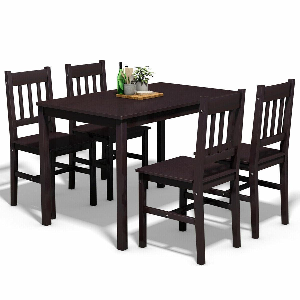 Most Recent Pattonsburg 5 Piece Dining Sets Regarding Sundberg 5 Piece Solid Wood Dining Set (View 8 of 20)