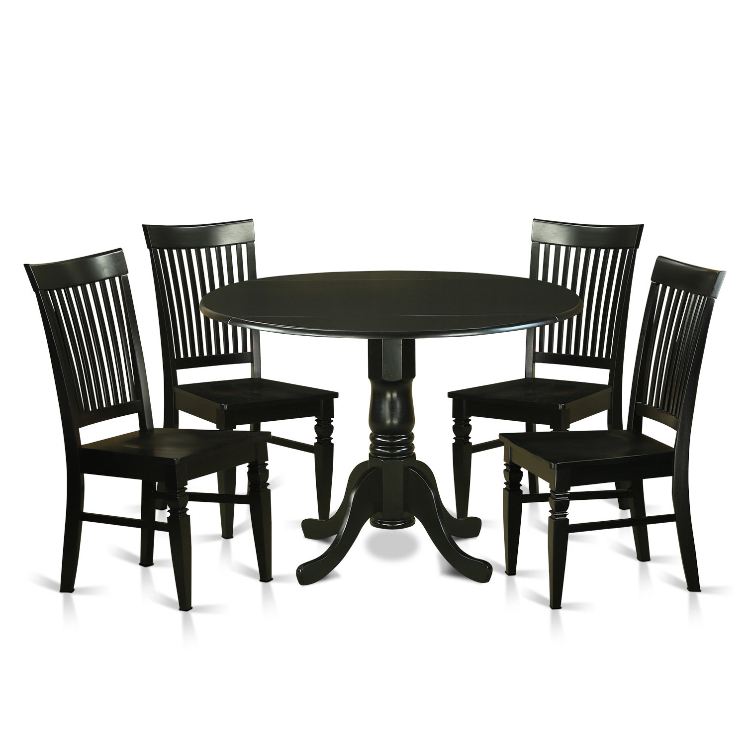 Most Recent Spruill 5 Piece Drop Leaf Solid Wood Wood Dining Set Throughout Pattonsburg 5 Piece Dining Sets (View 9 of 20)