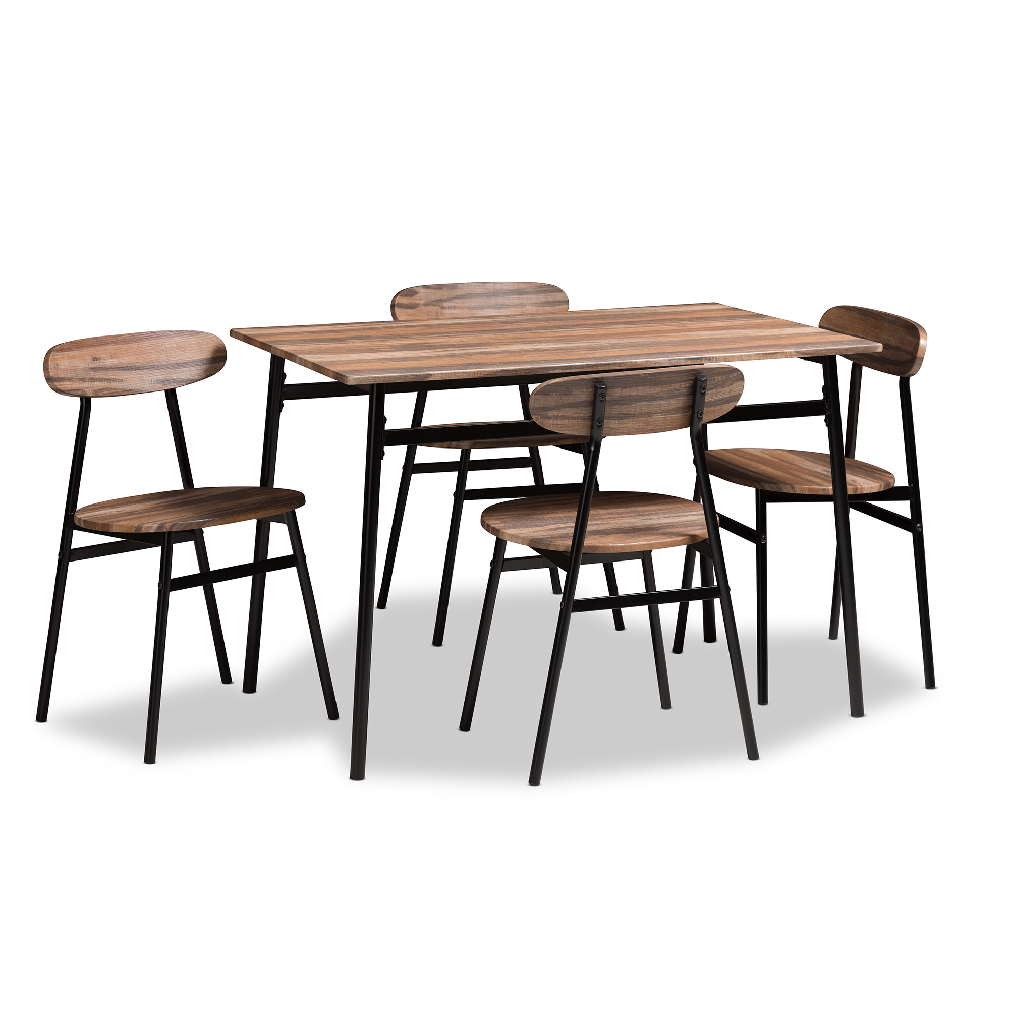 Most Recent Telauges 5 Piece Dining Set In Yedinak 5 Piece Solid Wood Dining Sets (View 7 of 20)