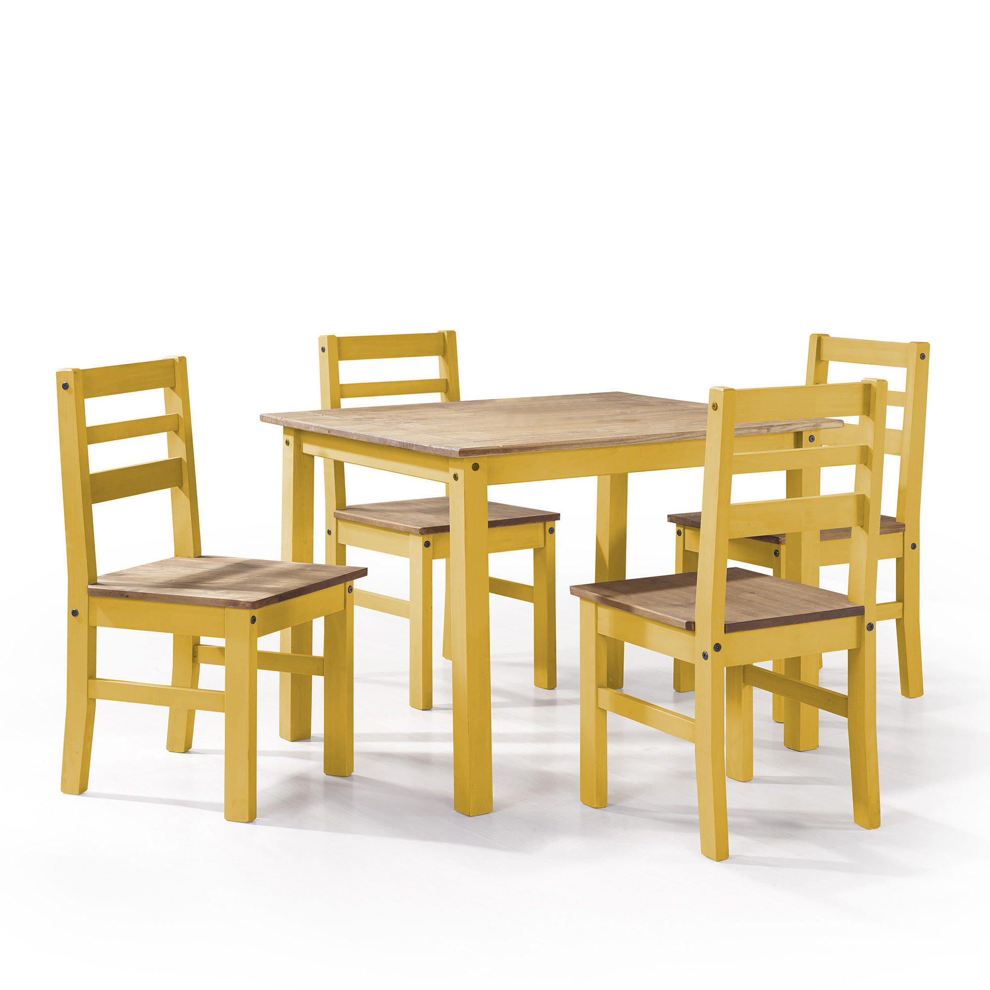 Most Recent Yedinak 5 Piece Solid Wood Dining Sets Throughout Shrewsbury 5 Piece Solid Wood Dining Set (View 8 of 20)