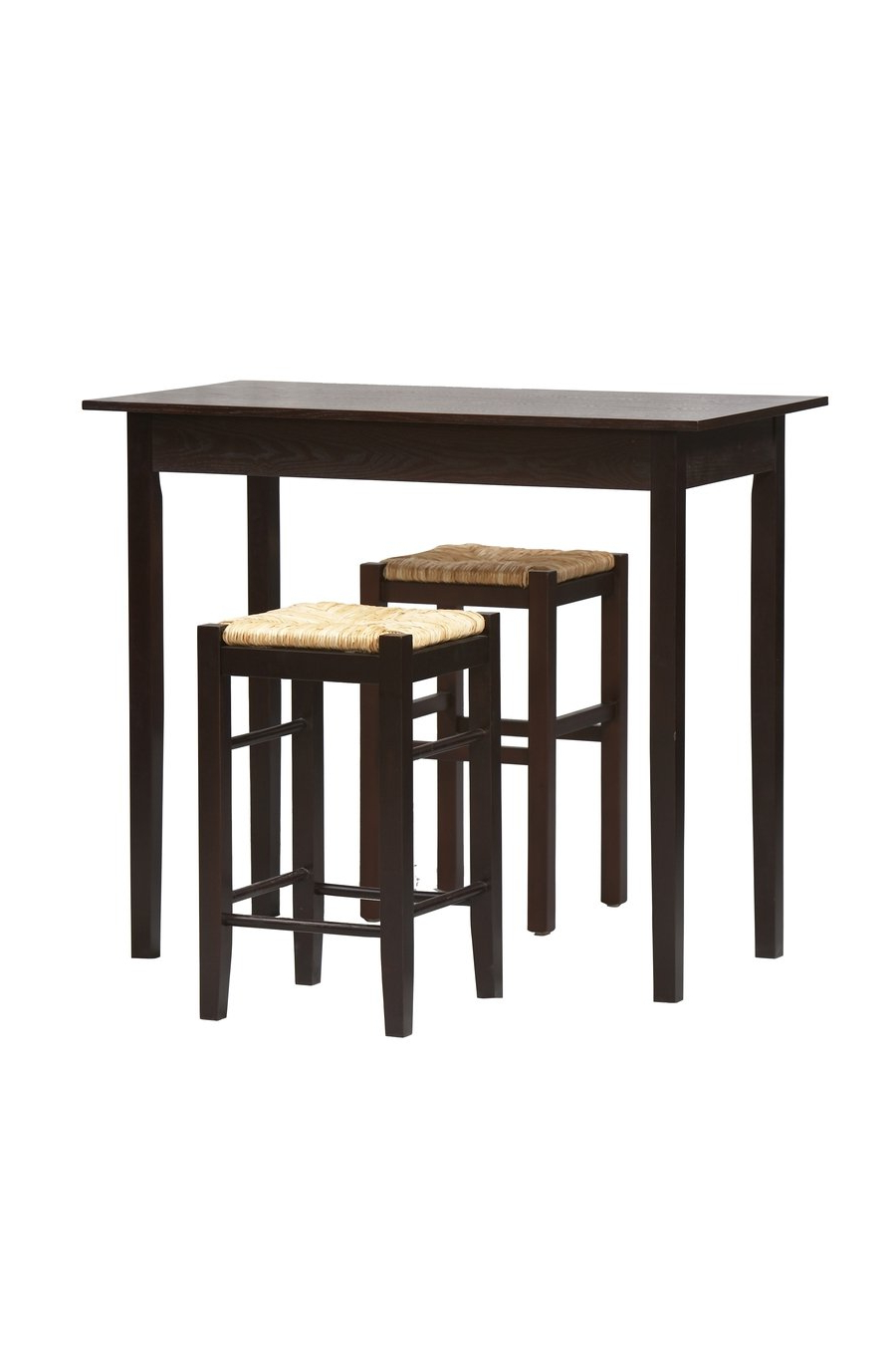 Most Recently Released 3 Pc Counter Dining Set In Espresso Finish Intended For Tappahannock 3 Piece Counter Height Dining Sets (View 9 of 20)
