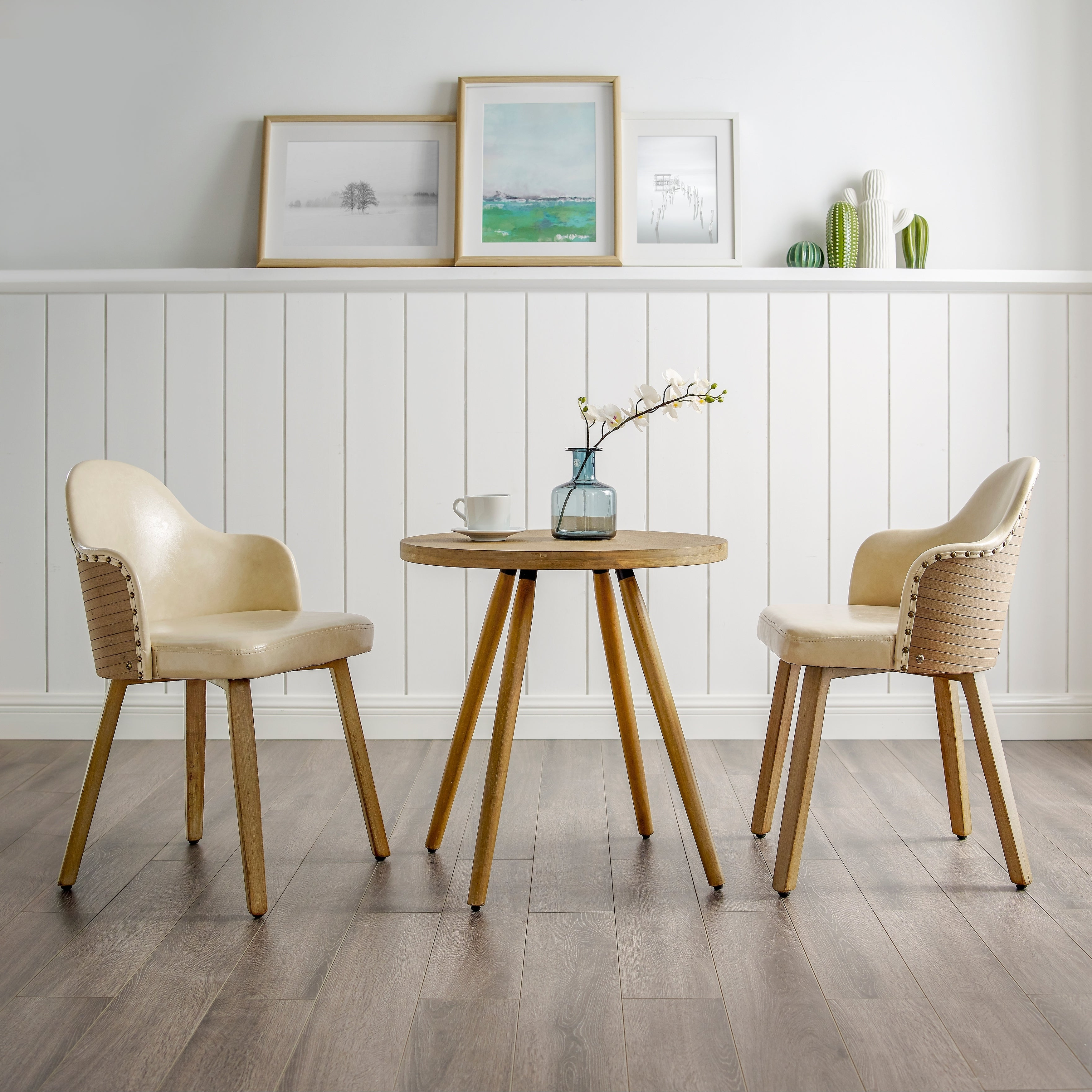 Most Recently Released 3 Piece Dining Sets With Regard To Carson Carrington Ylivieska Mid Century Bamboo 3 Piece Dining Set (View 16 of 20)