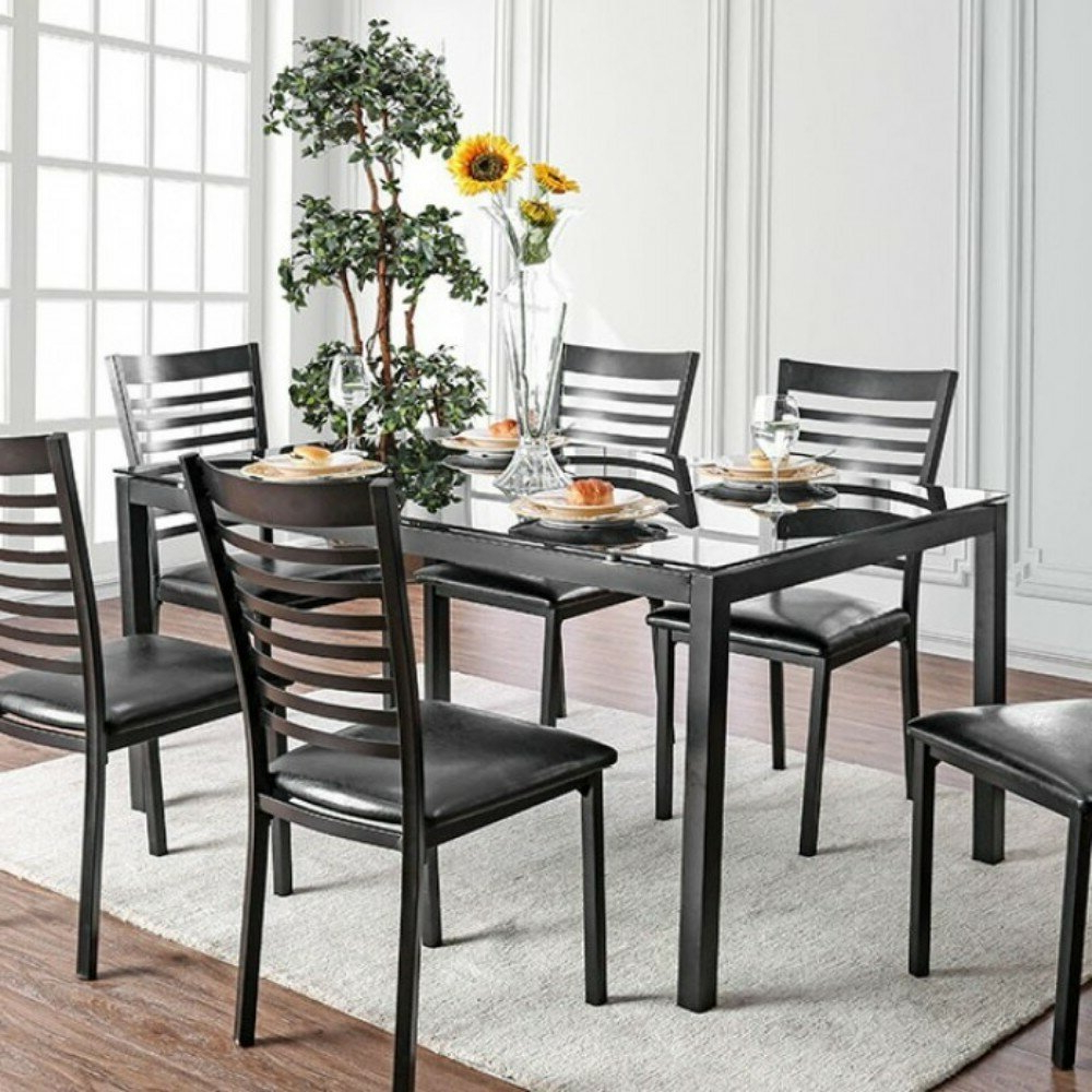 Most Recently Released Autberry 5 Piece Dining Sets Intended For Mitchell Contemporary 5 Piece Solid Wood Dining Set (View 14 of 20)