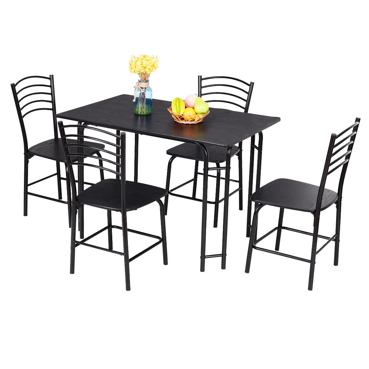 Most Recently Released Ephraim 5 Piece Dining Set Within Turnalar 5 Piece Dining Sets (View 3 of 20)