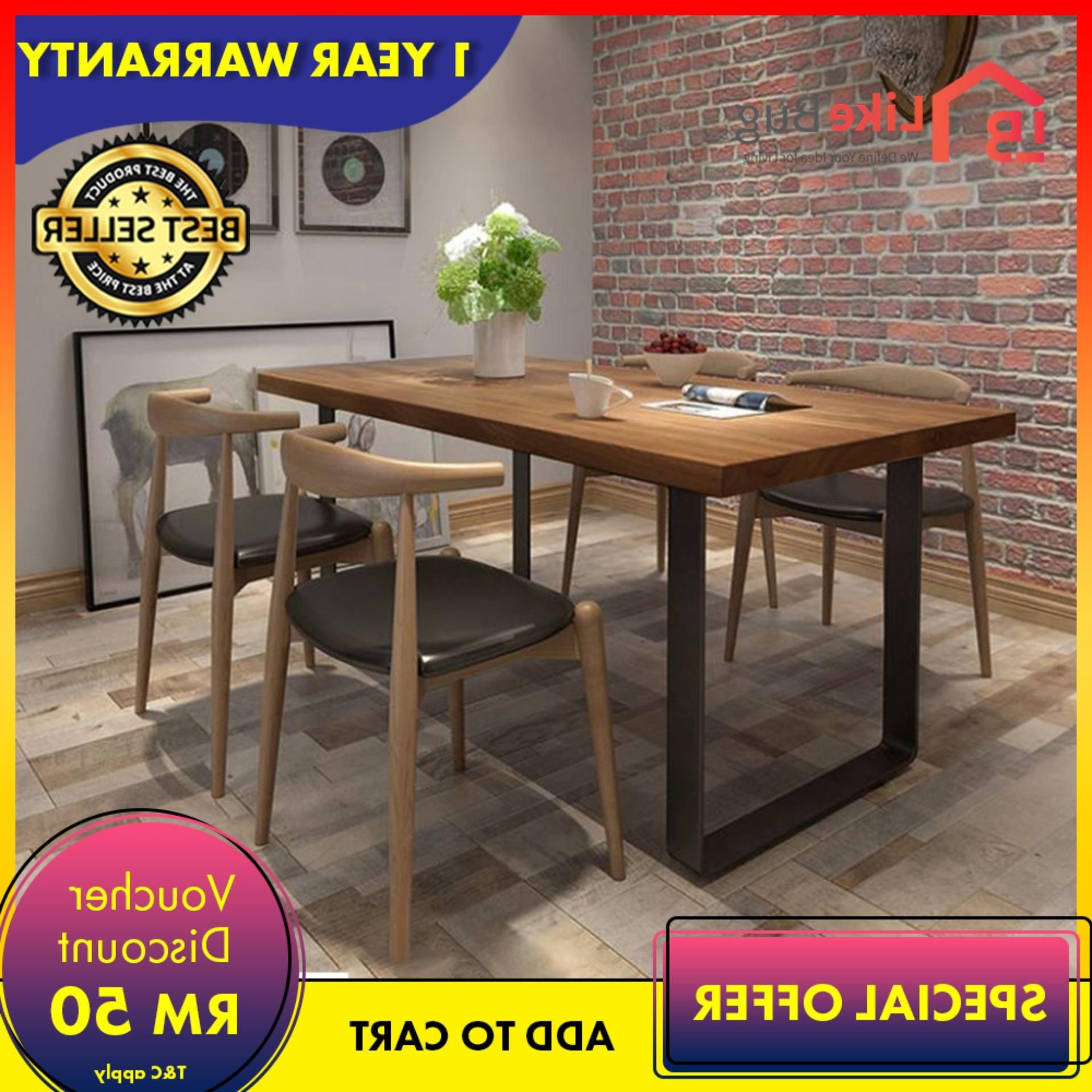 Most Recently Released Evellen 5 Piece Solid Wood Dining Sets (Set Of 5) In Set Ruang Makan – Buy Set Ruang Makan At Best Price In Malaysia (View 14 of 20)