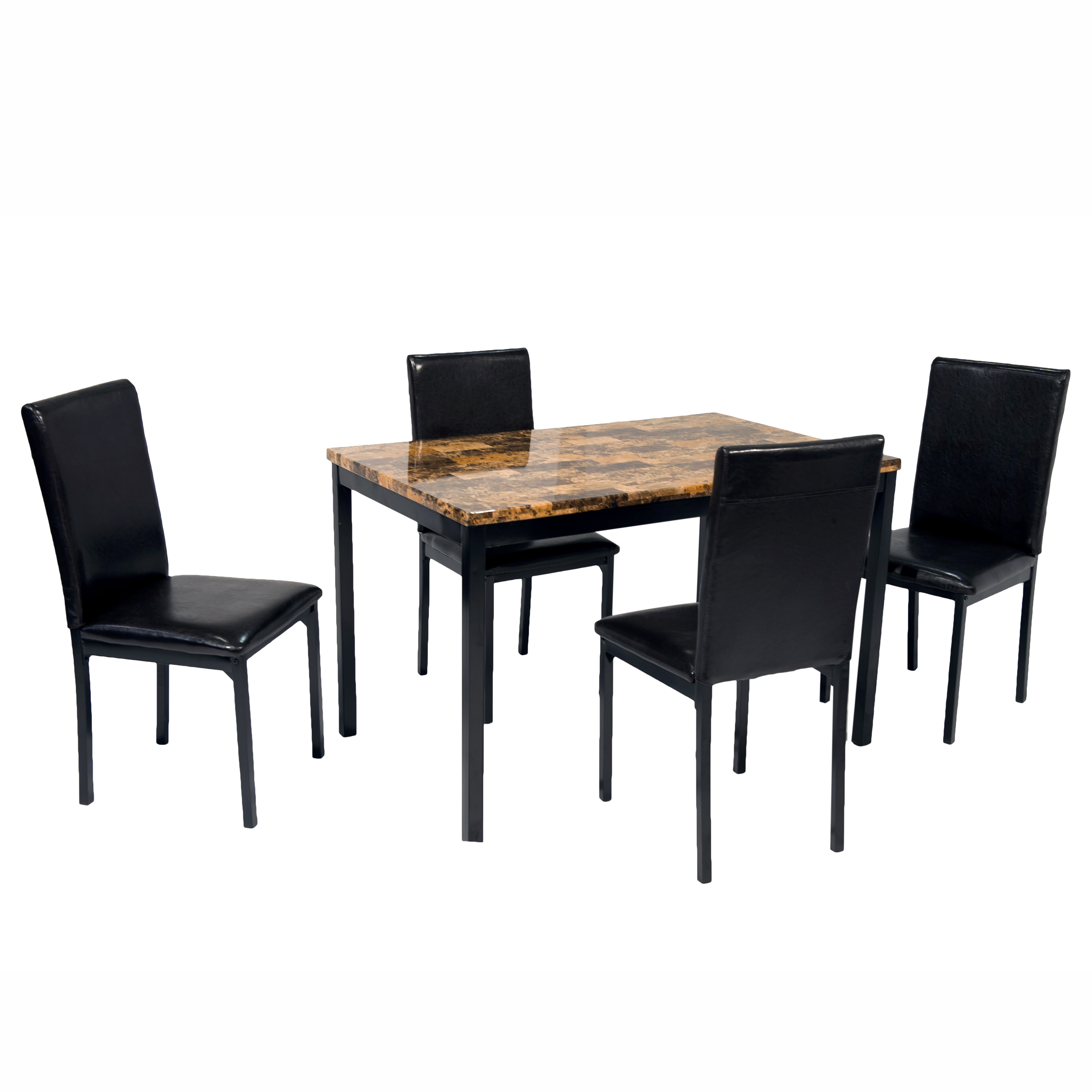 Most Recently Released Shepparton Vintage 3 Piece Dining Sets Regarding Della 5 Piece Dining Set (View 16 of 20)