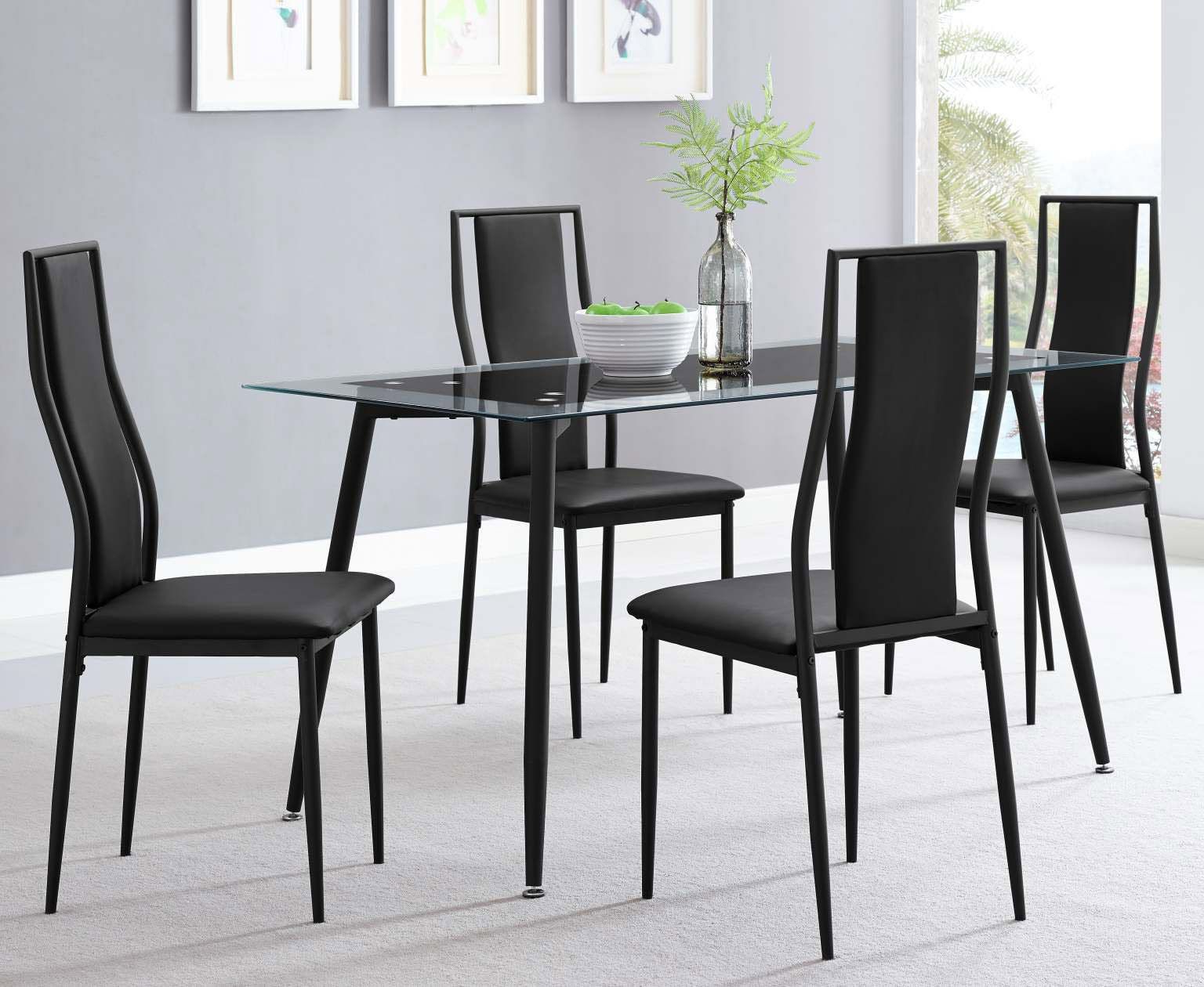 "Most Up To Date Delta 5 Piece Set With Black Metal Frame $279.00 Table:55"" X  (View 7 of 20)"