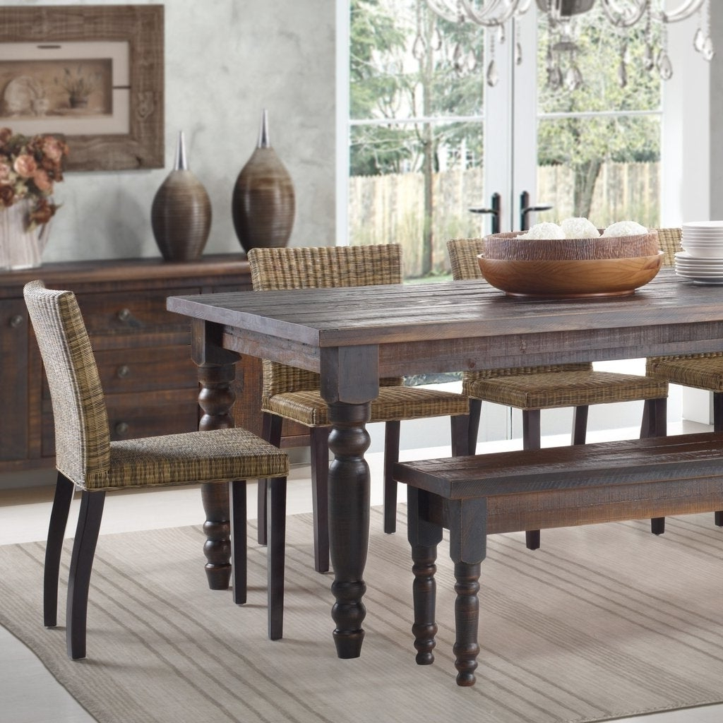 Most Up To Date Evellen 5 Piece Solid Wood Dining Sets (set Of 5) With Regard To Grain Wood Furniture Valerie 63 Inch Solid Wood Dining Table (View 5 of 20)