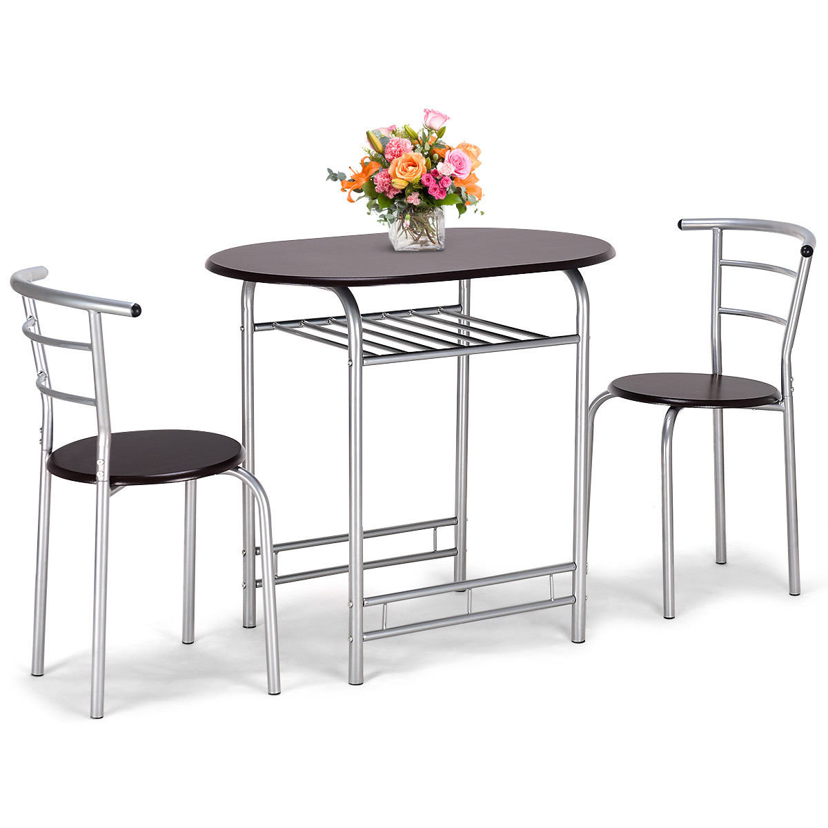 Most Up To Date Lelia 3 Piece Breakfast Nook Dining Set Pertaining To 3 Piece Breakfast Dining Sets (View 6 of 20)