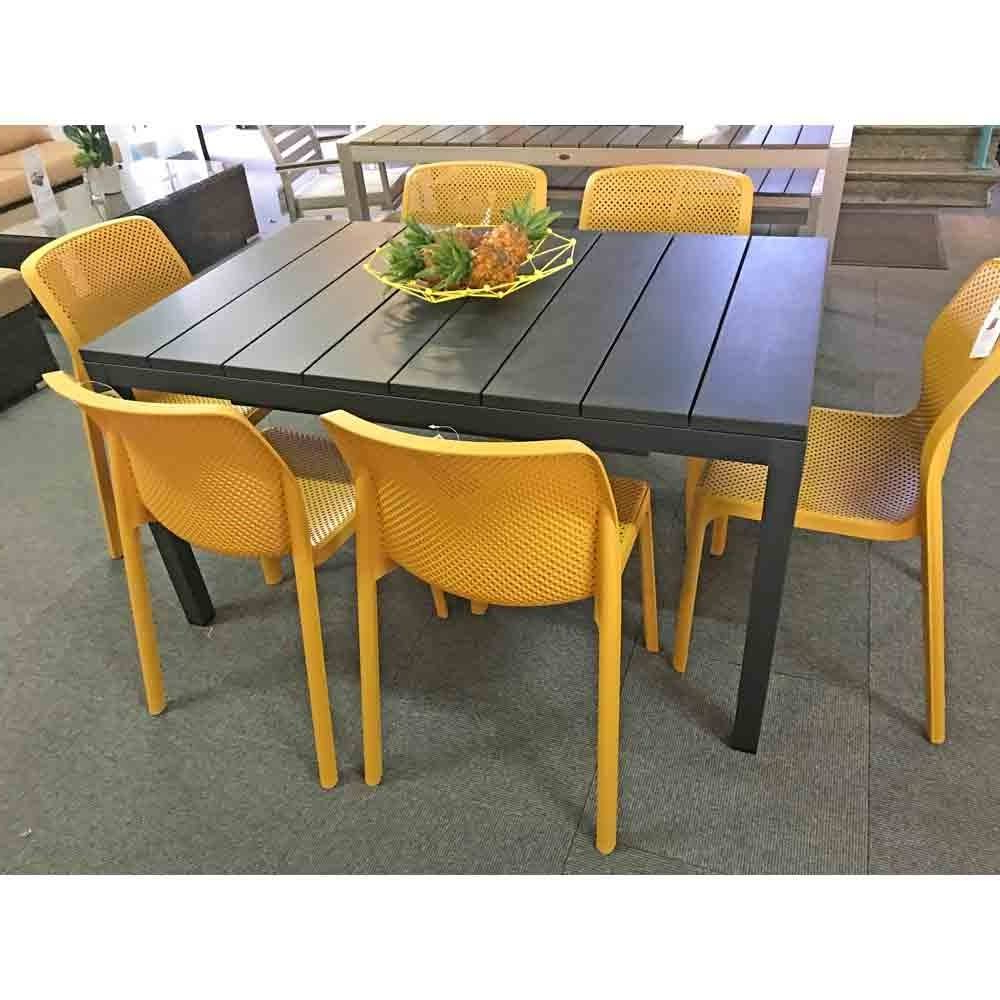 Nardi Bit 7 Piece Dining Setting With Rio 140Cm Extendable Table In Favorite Aria 5 Piece Dining Sets (View 12 of 20)