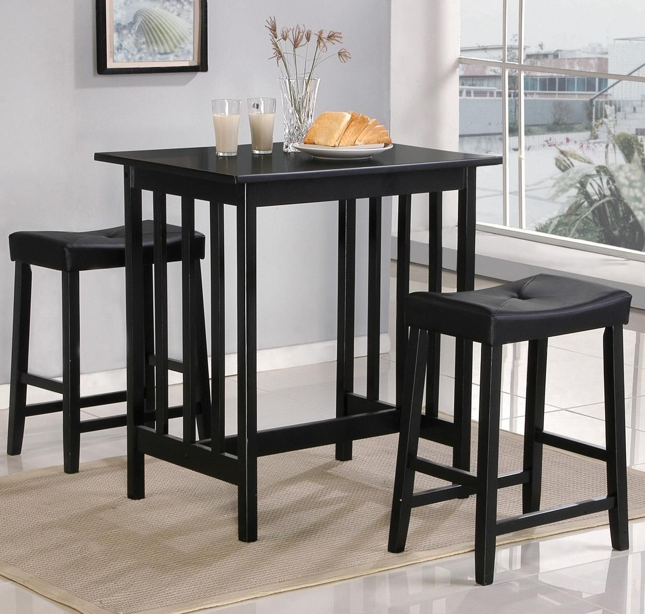 Newest 9399 3 Piece Counter Table And Stool Setworld Imports – Wolf With Regard To Bettencourt 3 Piece Counter Height Dining Sets (View 13 of 20)