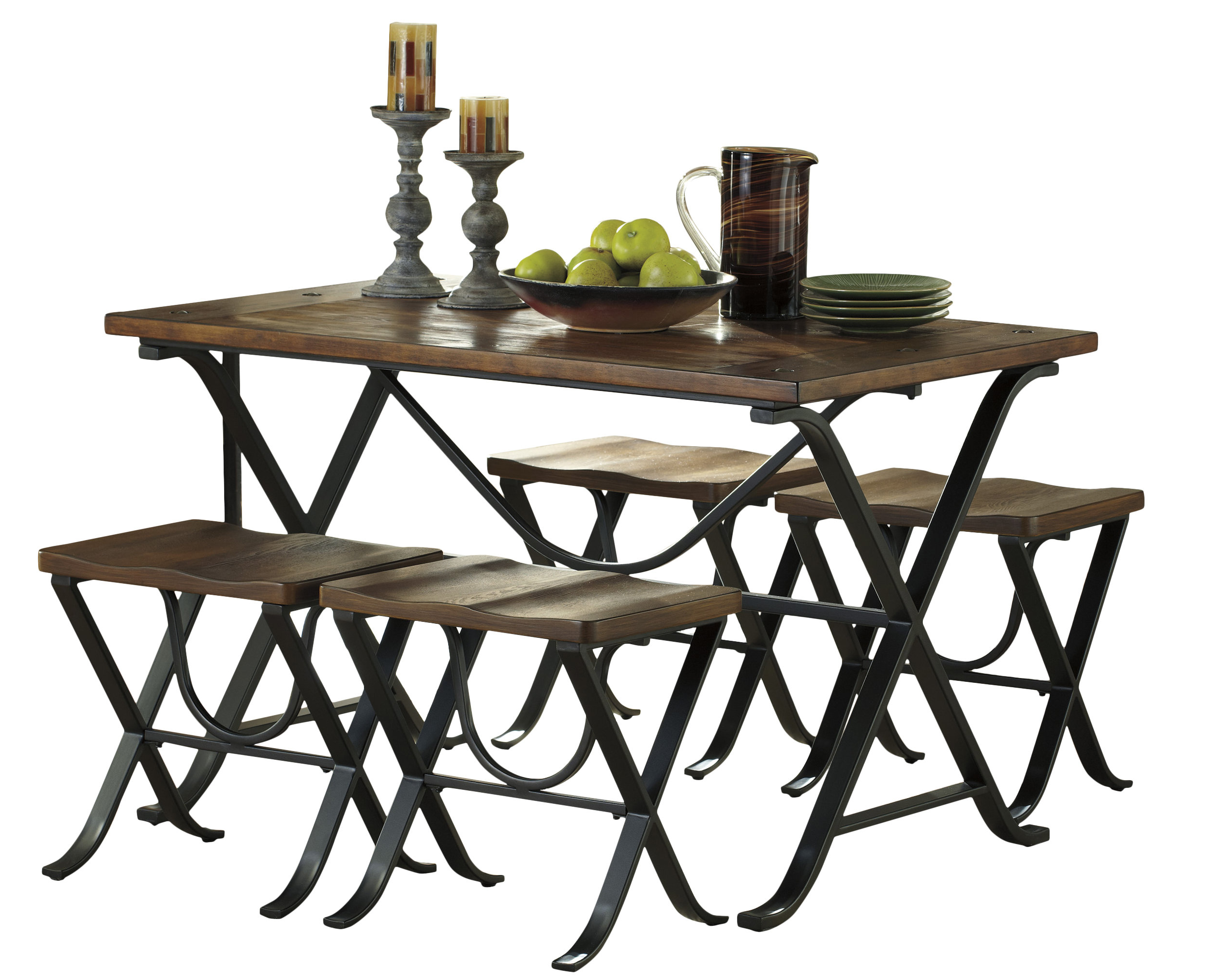 Newest Aguiar 5 Piece Dining Set Inside Denzel 5 Piece Counter Height Breakfast Nook Dining Sets (View 19 of 20)