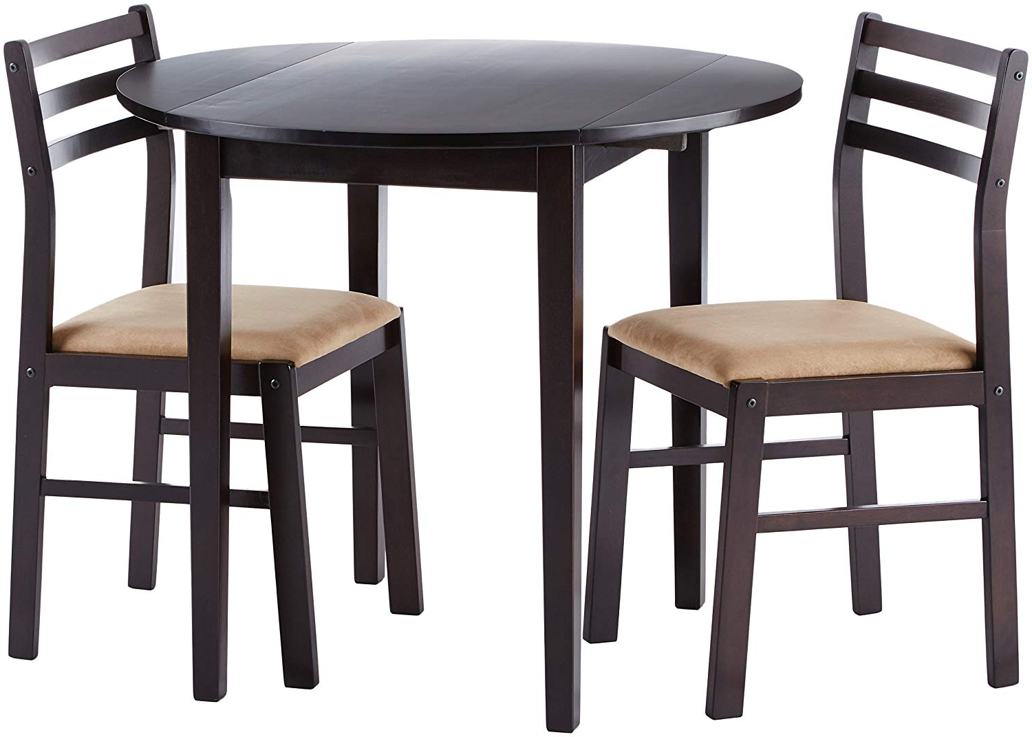 Newest Baillie 3 Piece Dining Sets In Coaster Home Furnishings 3 Piece Dining Set With Drop Leaf Cappuccino And  Tan (View 14 of 20)