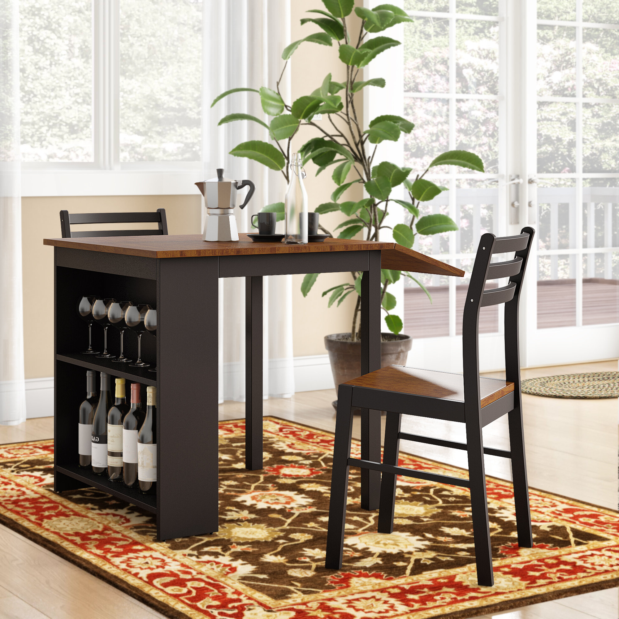 Newest Baillie 3 Piece Dining Sets With Boehmer 3 Piece Dining Set (View 15 of 20)