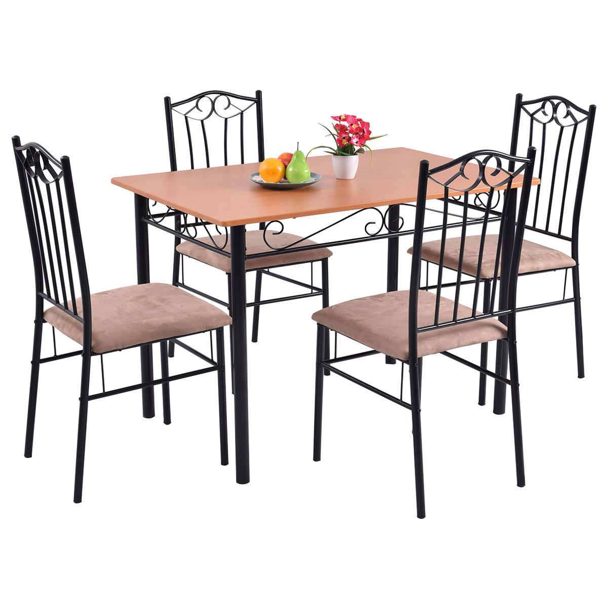Newest Casiano 5 Piece Dining Sets Inside Rossi 5 Piece Dining Set (Gallery 16 of 20)