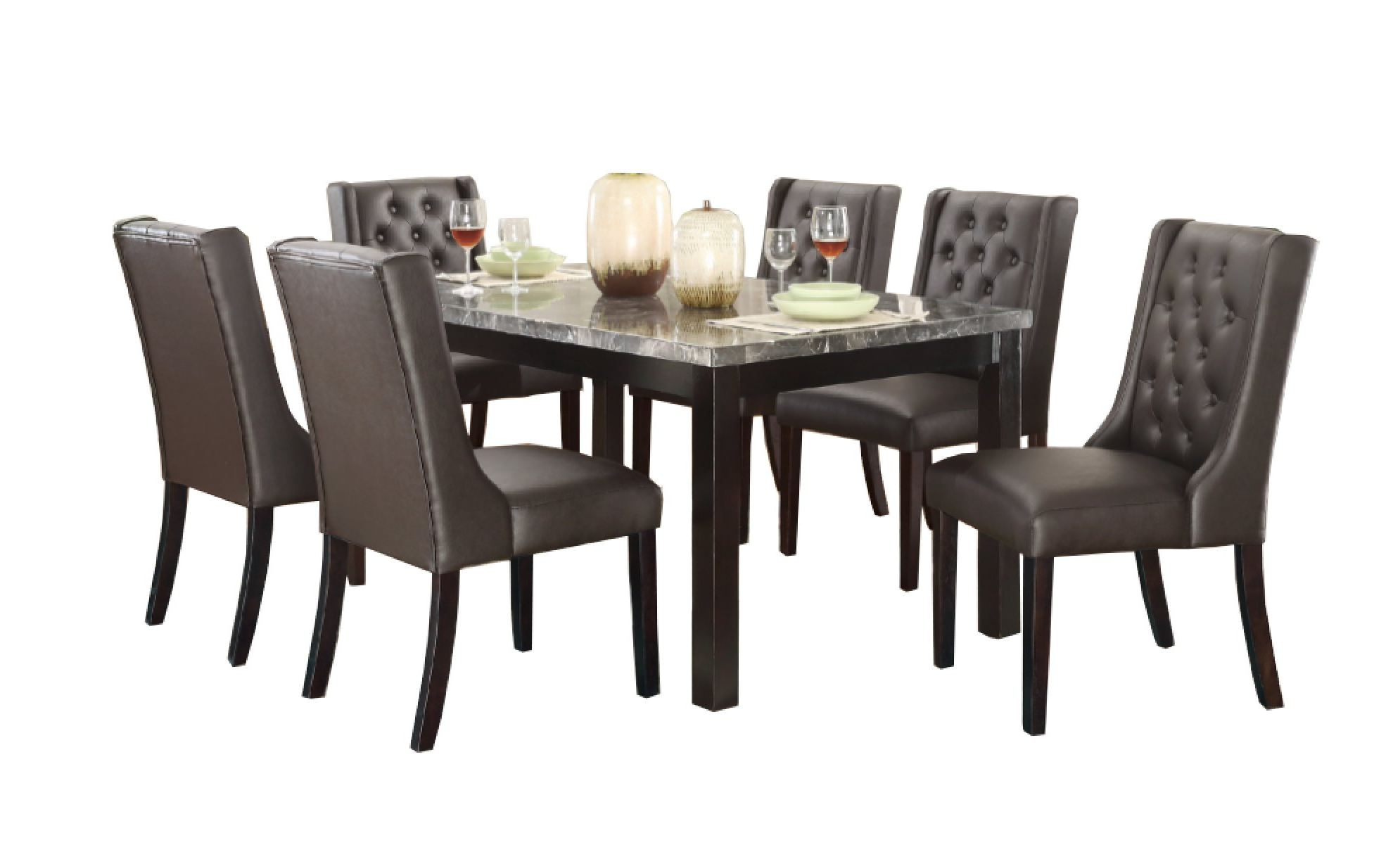 Newest Haigh 7 Piece Dining Set Within Laconia 7 Pieces Solid Wood Dining Sets (set Of 7) (View 13 of 20)