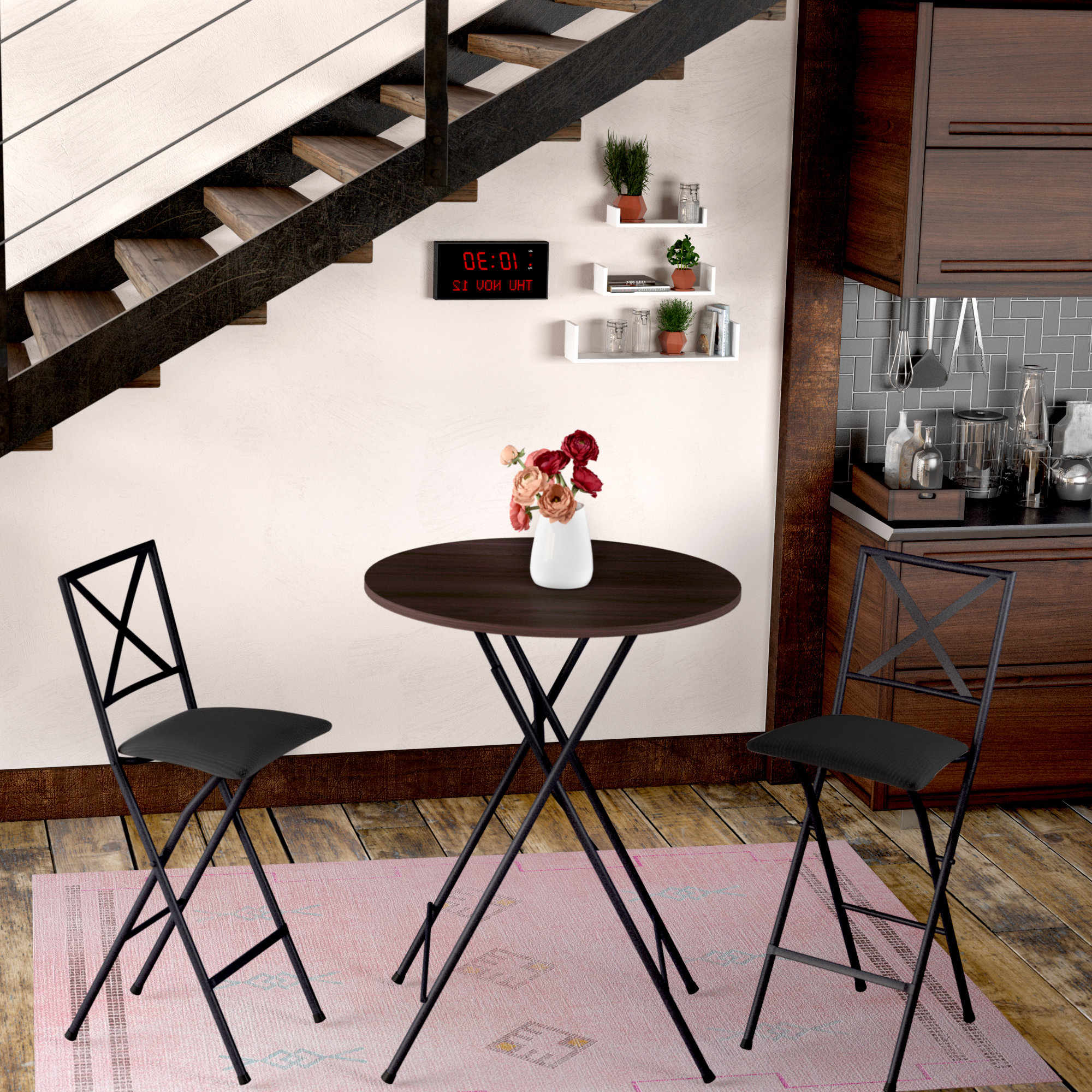 Newest Honoria 3 Piece Dining Sets Pertaining To Vargas 3 Piece Counter Height Bistro Set (View 14 of 20)