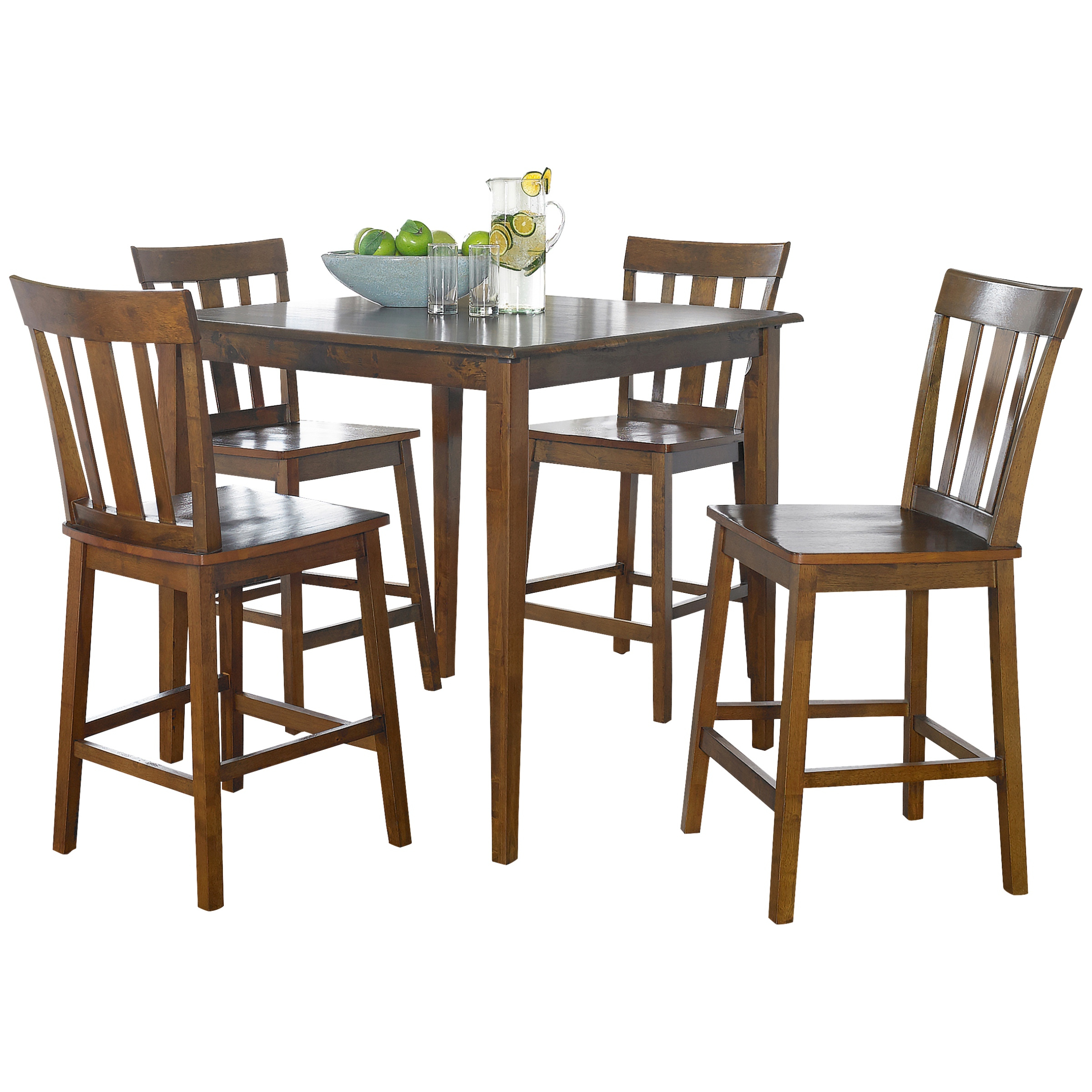 Newest Mainstays 5 Piece Mission Counter Height Dining Set – Walmart Regarding Goodman 5 Piece Solid Wood Dining Sets (Set Of 5) (View 18 of 20)