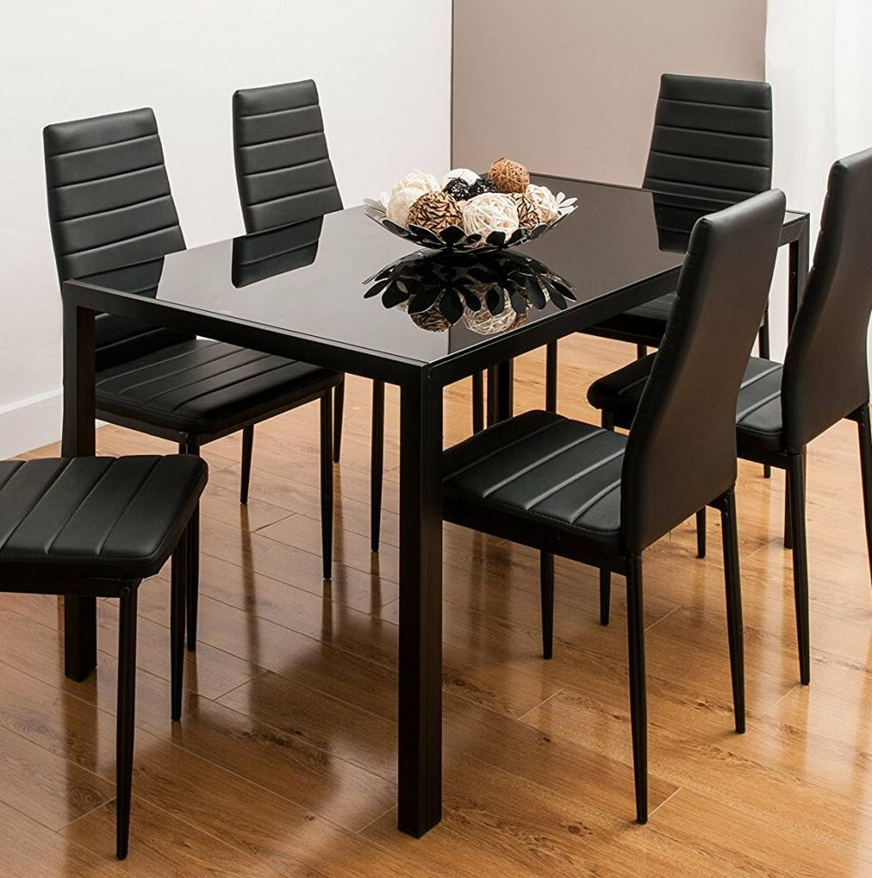 Newest Ryker 3 Piece Dining Sets Intended For Renick Modern 7 Piece Dining Set (Gallery 20 of 20)