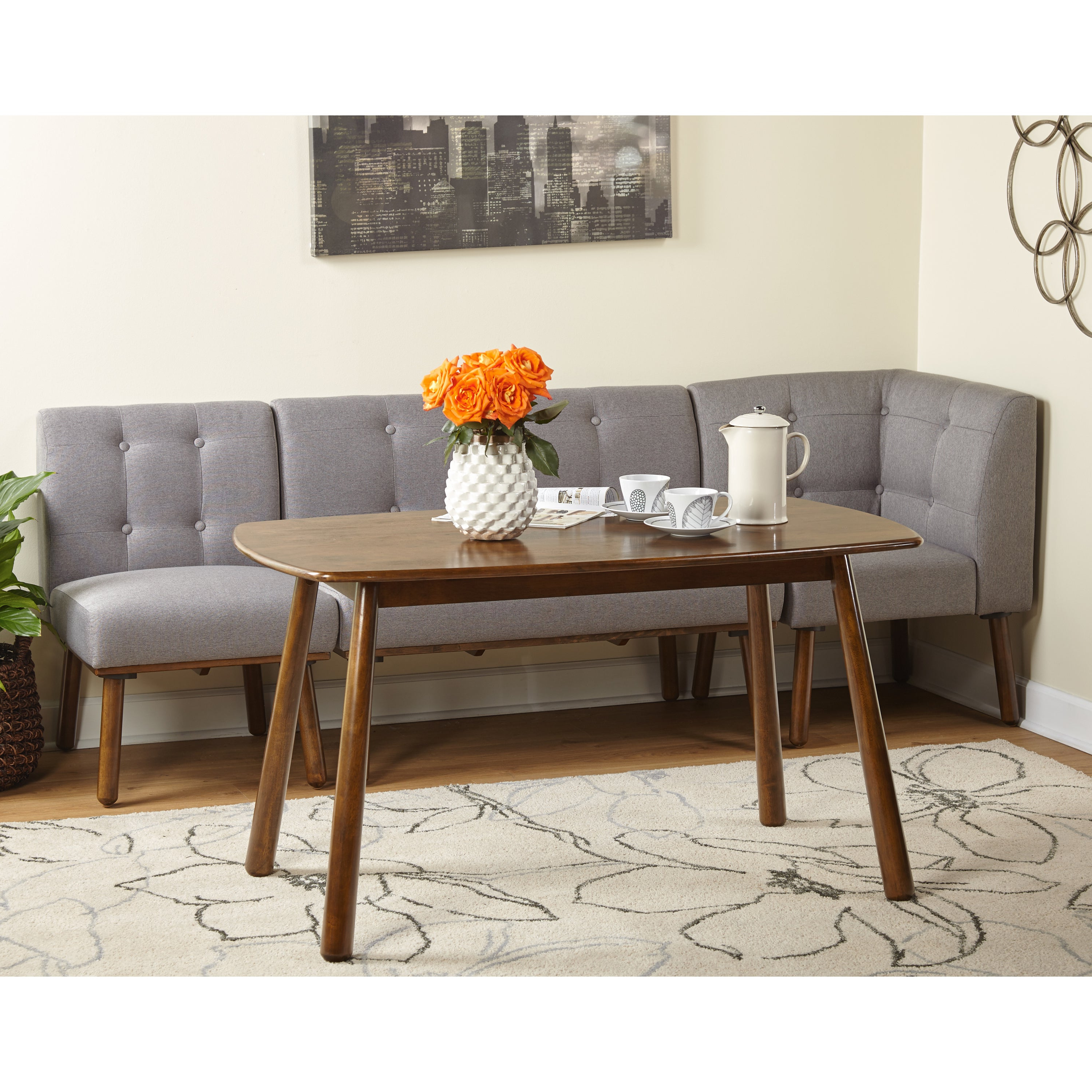 Newest Simple Living 4 Piece Playmate Nook Dining Set Inside Maloney 3 Piece Breakfast Nook Dining Sets (View 10 of 20)