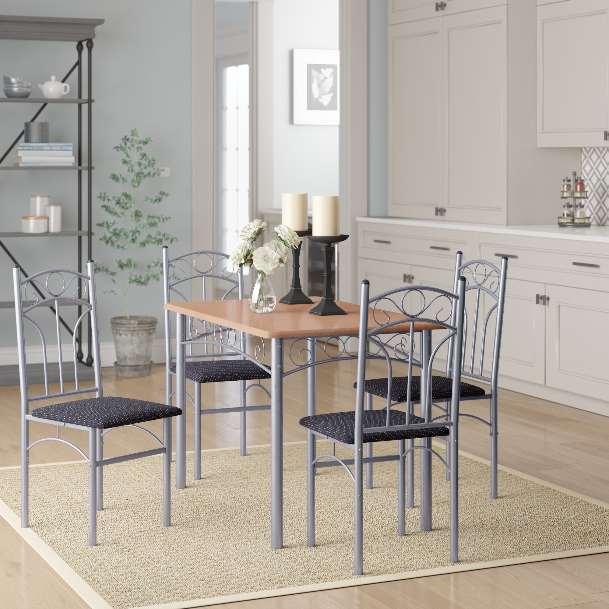 Newest Turnalar 5 Piece Dining Set In Rarick 5 Piece Solid Wood Dining Sets (Set Of 5) (Gallery 6 of 20)