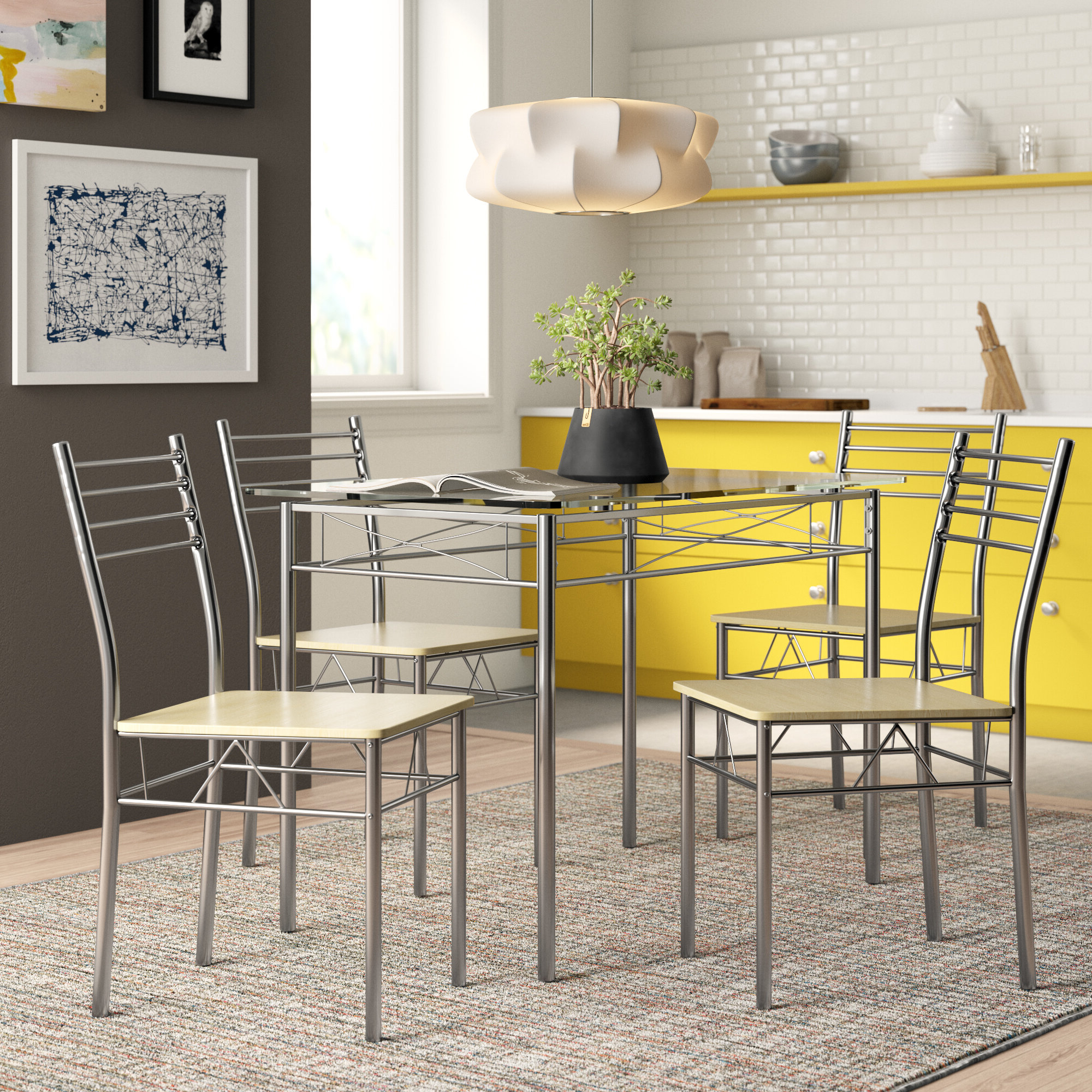 North Reading 5 Piece Dining Table Set Regarding Fashionable Mulvey 5 Piece Dining Sets (View 17 of 20)