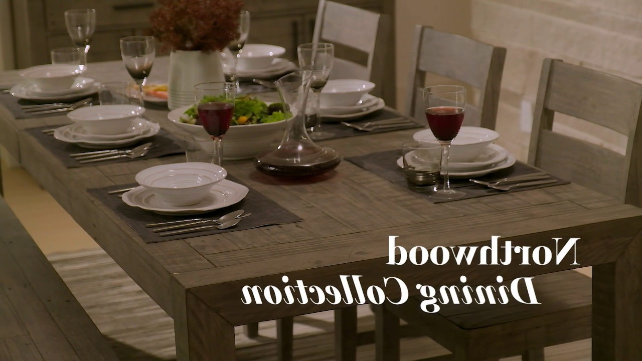 Northwoods 3 Piece Dining Sets Inside Fashionable Dining Room Furniture And Accents (View 9 of 20)
