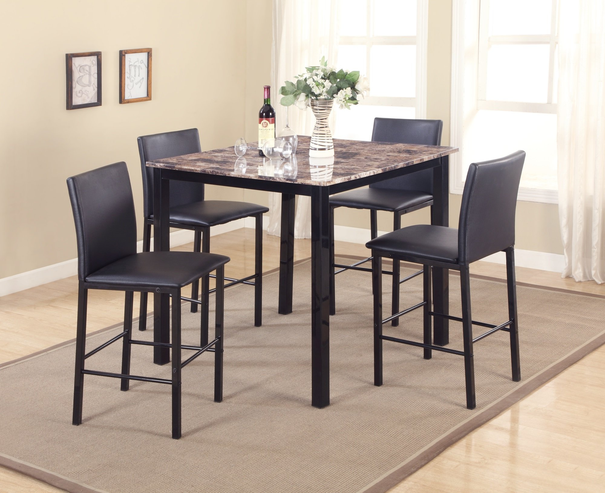 Noyes 5 Piece Counter Height Dining Set Pertaining To Popular Noyes 5 Piece Dining Sets (Gallery 1 of 20)