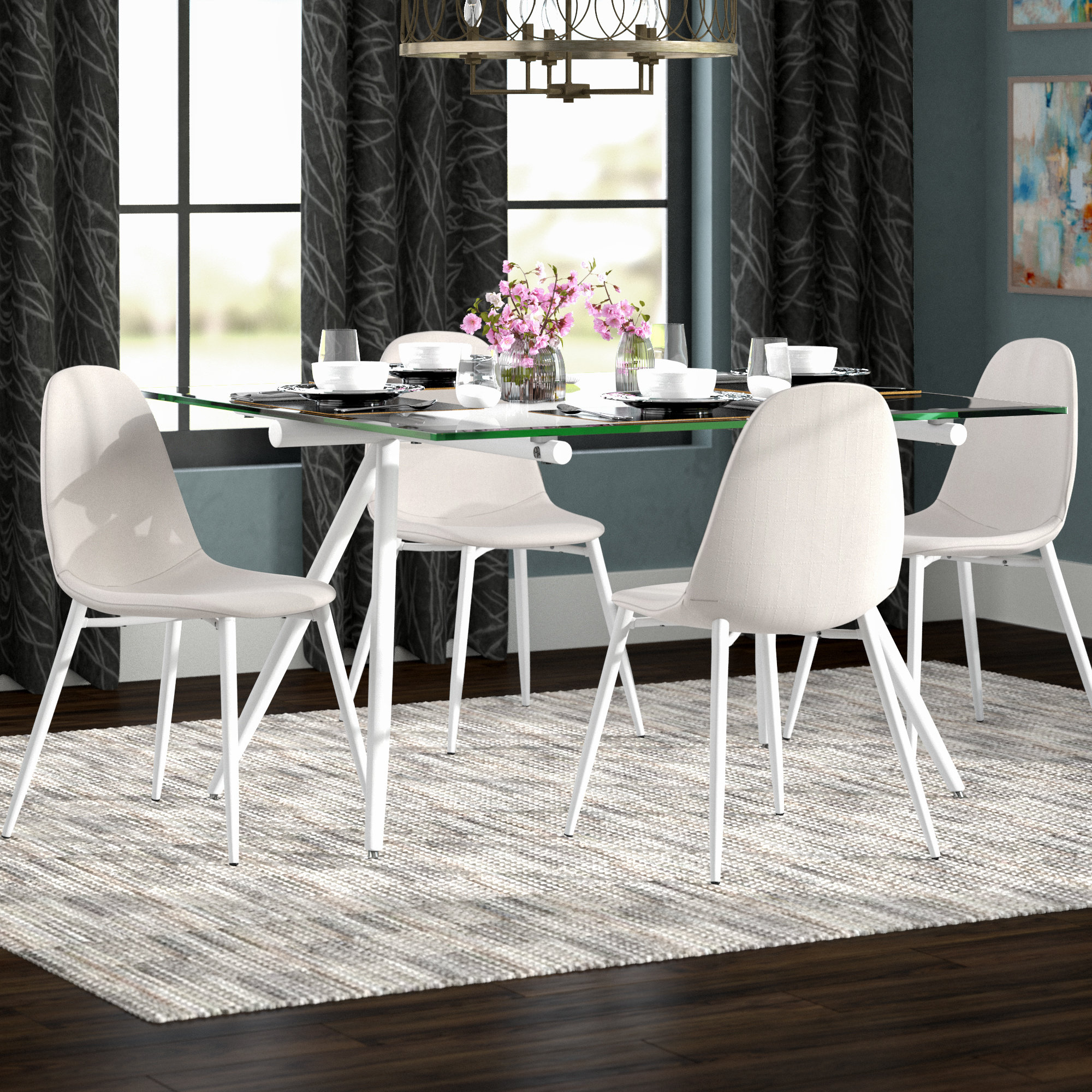 Noyes 5 Piece Dining Sets With Well Known Woodhouse 5 Piece Dining Set (View 13 of 20)