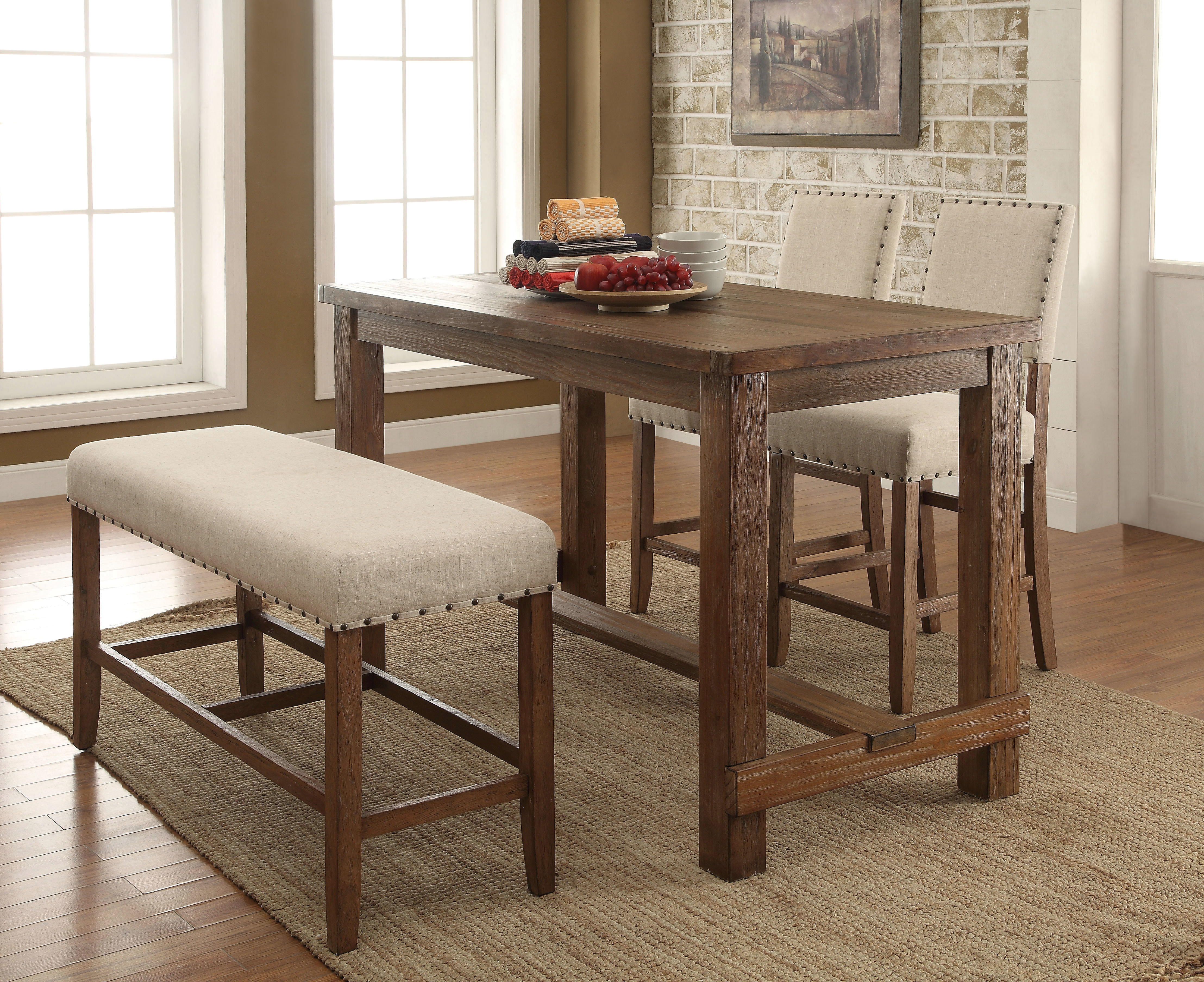 Orth 4 Piece Dining Set With Most Current Queener 5 Piece Dining Sets (View 2 of 20)