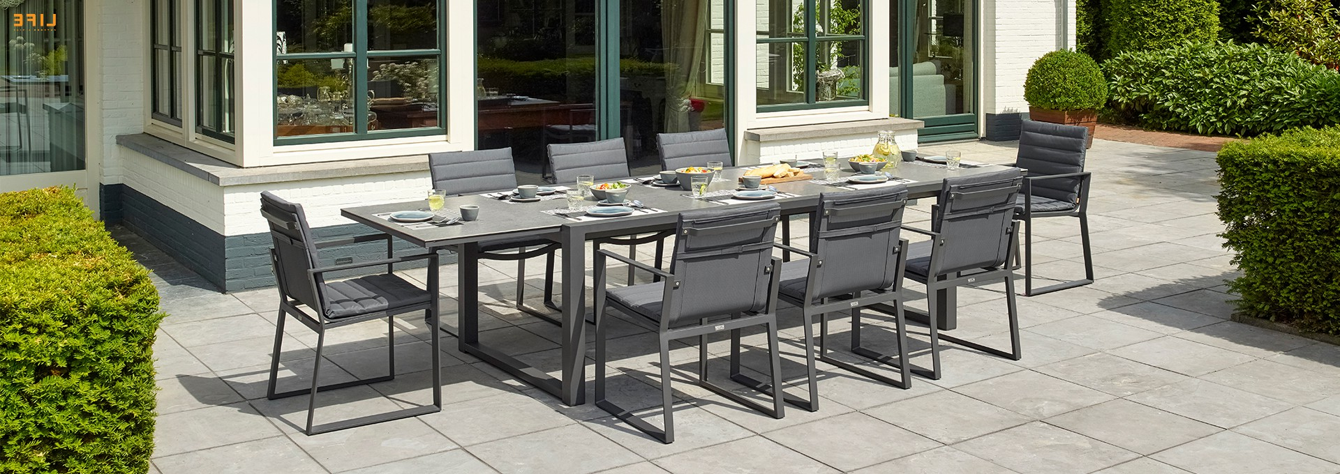 Osterman 6 Piece Extendable Dining Sets (Set Of 6) Regarding Well Known Primavera Dining Extendable Lava – Life Outdoor Living (Gallery 16 of 20)
