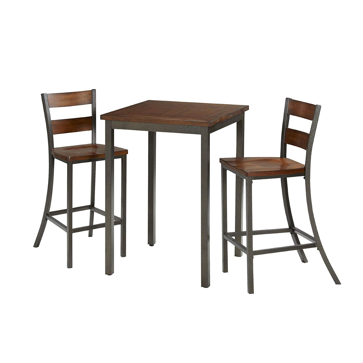 Partin 3 Piece Dining Sets With Regard To Famous Home Styles 5411 359 Cabin Creek 3 Piece Pub/bistro Table And Chairs Set (View 5 of 20)