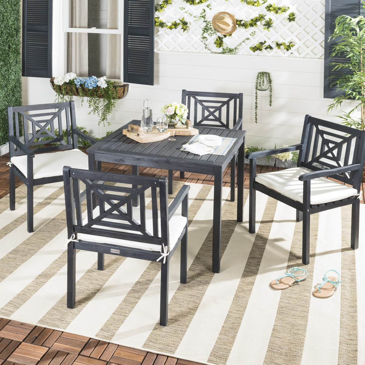 Pat6722k Patio Sets – 5 Piece Outdoor Dining Sets – Furniture With Most Recently Released Delmar 5 Piece Dining Sets (View 14 of 20)