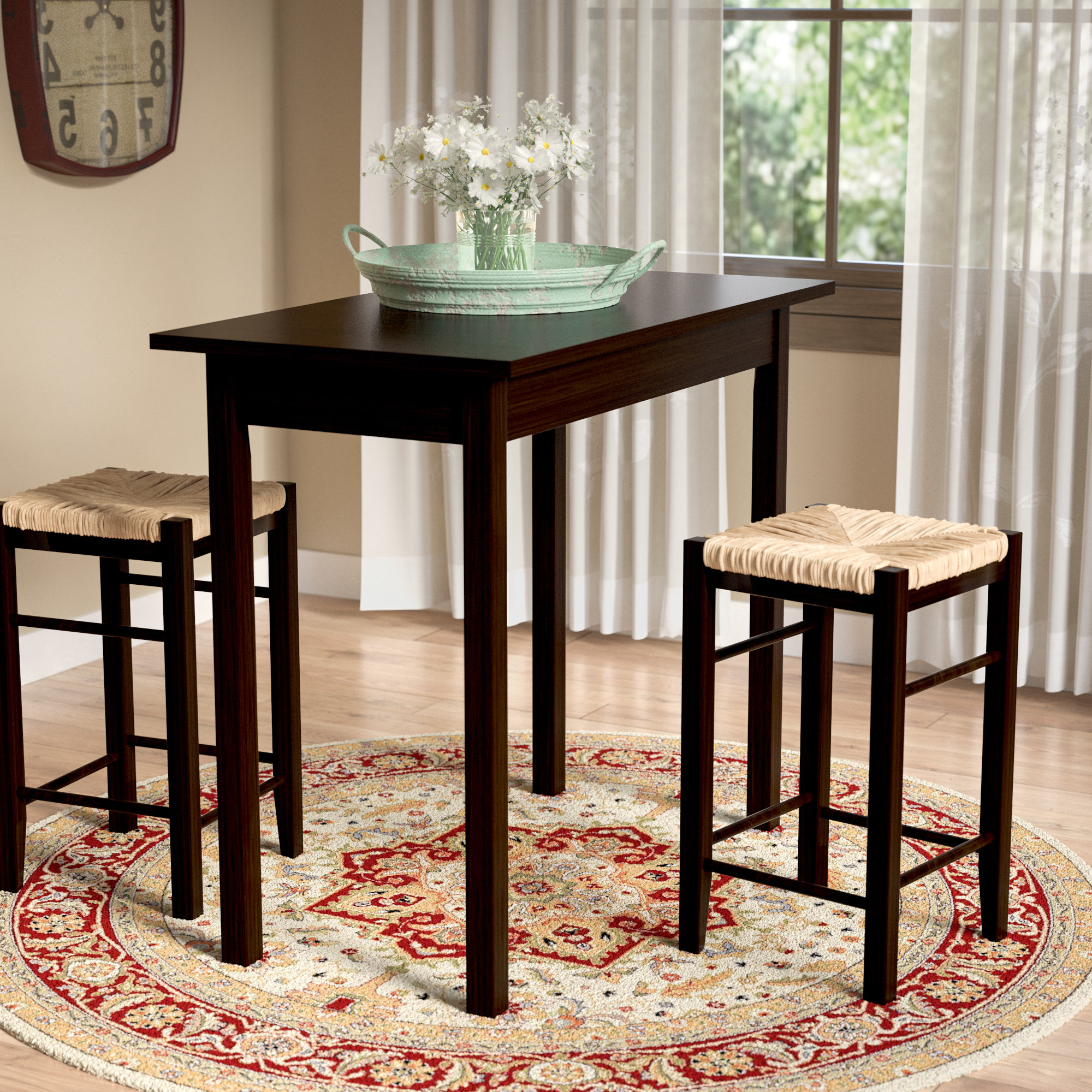 Penelope 3 Piece Counter Height Wood Dining Sets Inside Current Tenney 3 Piece Counter Height Dining Set (View 14 of 20)