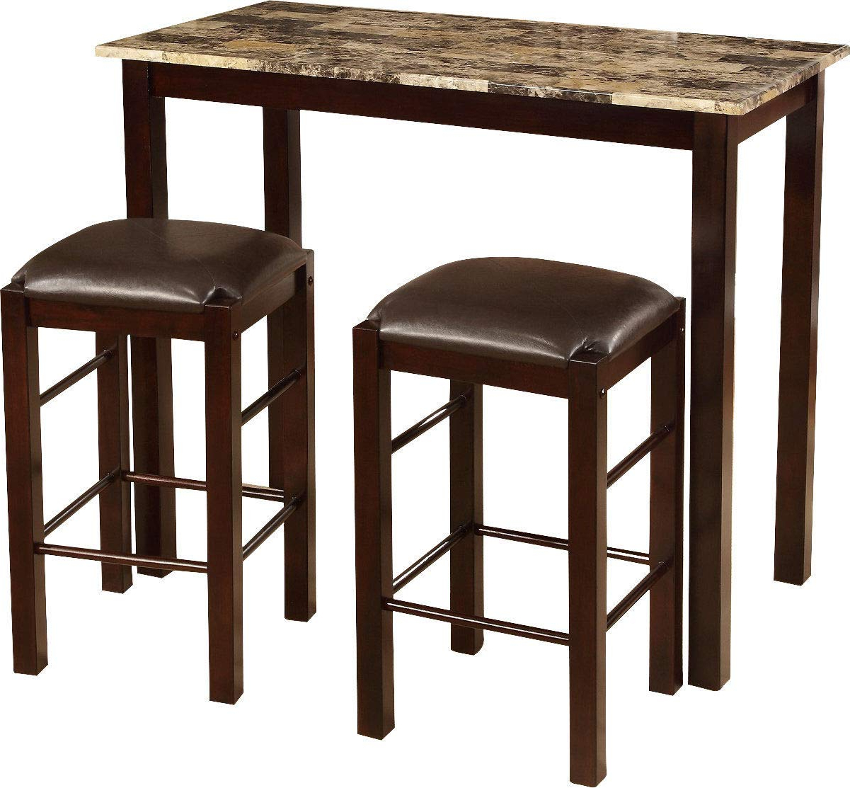 Penelope 3 Piece Counter Height Wood Dining Sets Pertaining To Most Current Amazon – Winston Porter Penelope 3 Piece Counter Height Wood (View 15 of 20)