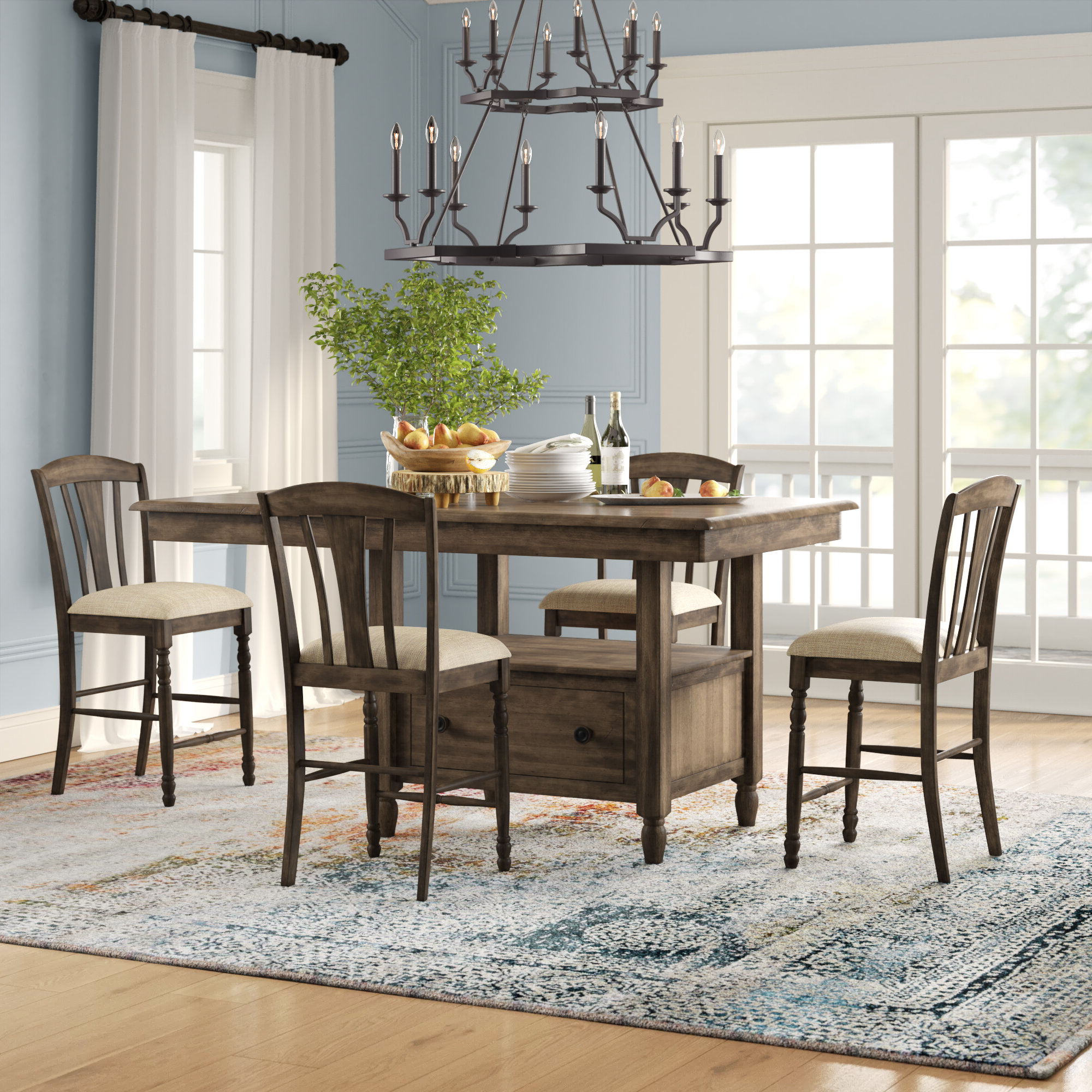 Perez 5 Piece Solid Wood Breakfast Nook Dining Set Inside Recent 5 Piece Breakfast Nook Dining Sets (View 12 of 20)