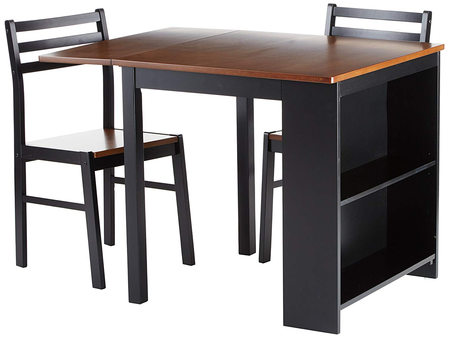 Persia 3 Piece Breakfast Dining Set Brown And Black For Best And Newest 3 Piece Breakfast Dining Sets (View 13 of 20)