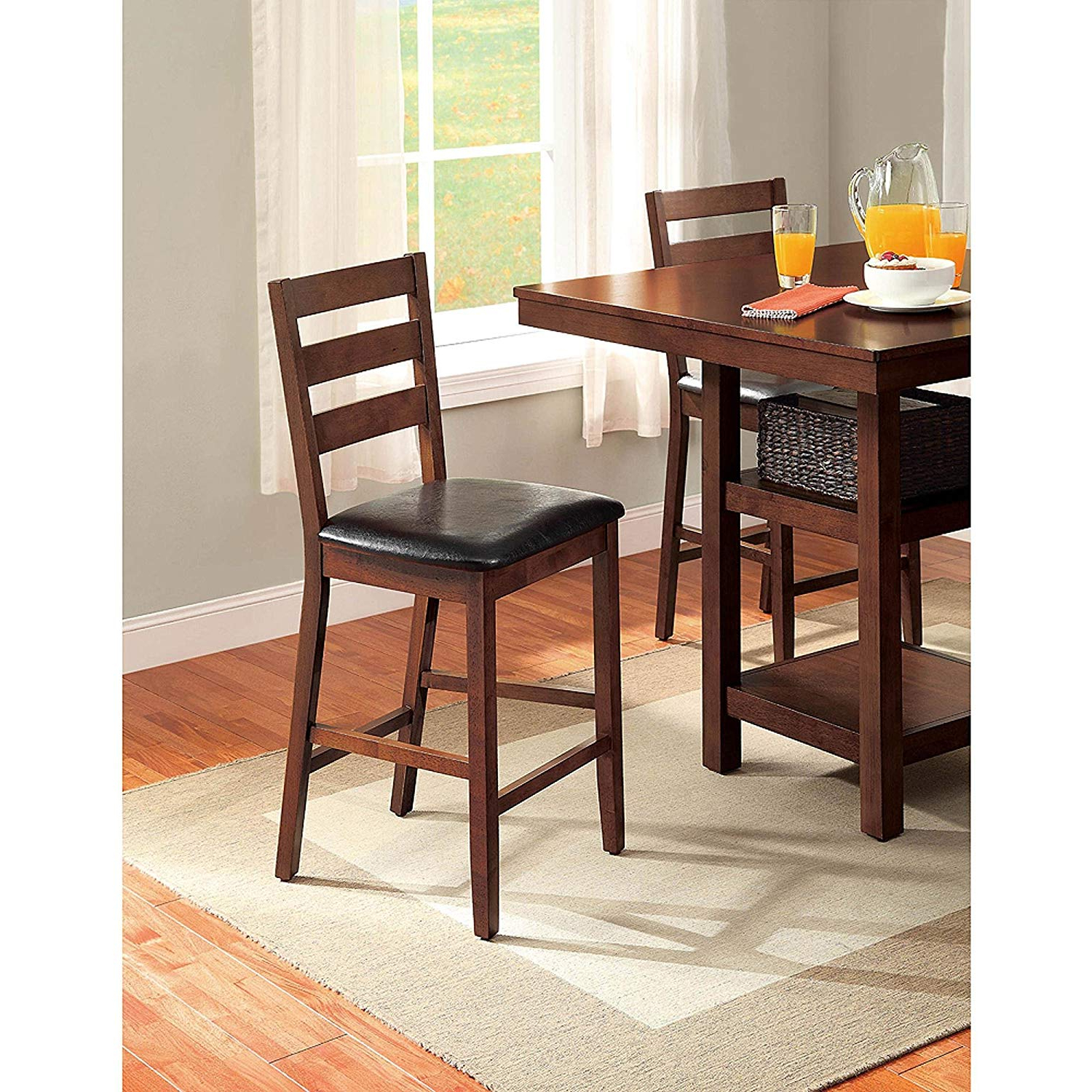 Popular 5 Piece Dalton Park Counter Height Dining Set, Mocha With Regard To Denzel 5 Piece Counter Height Breakfast Nook Dining Sets (View 15 of 20)