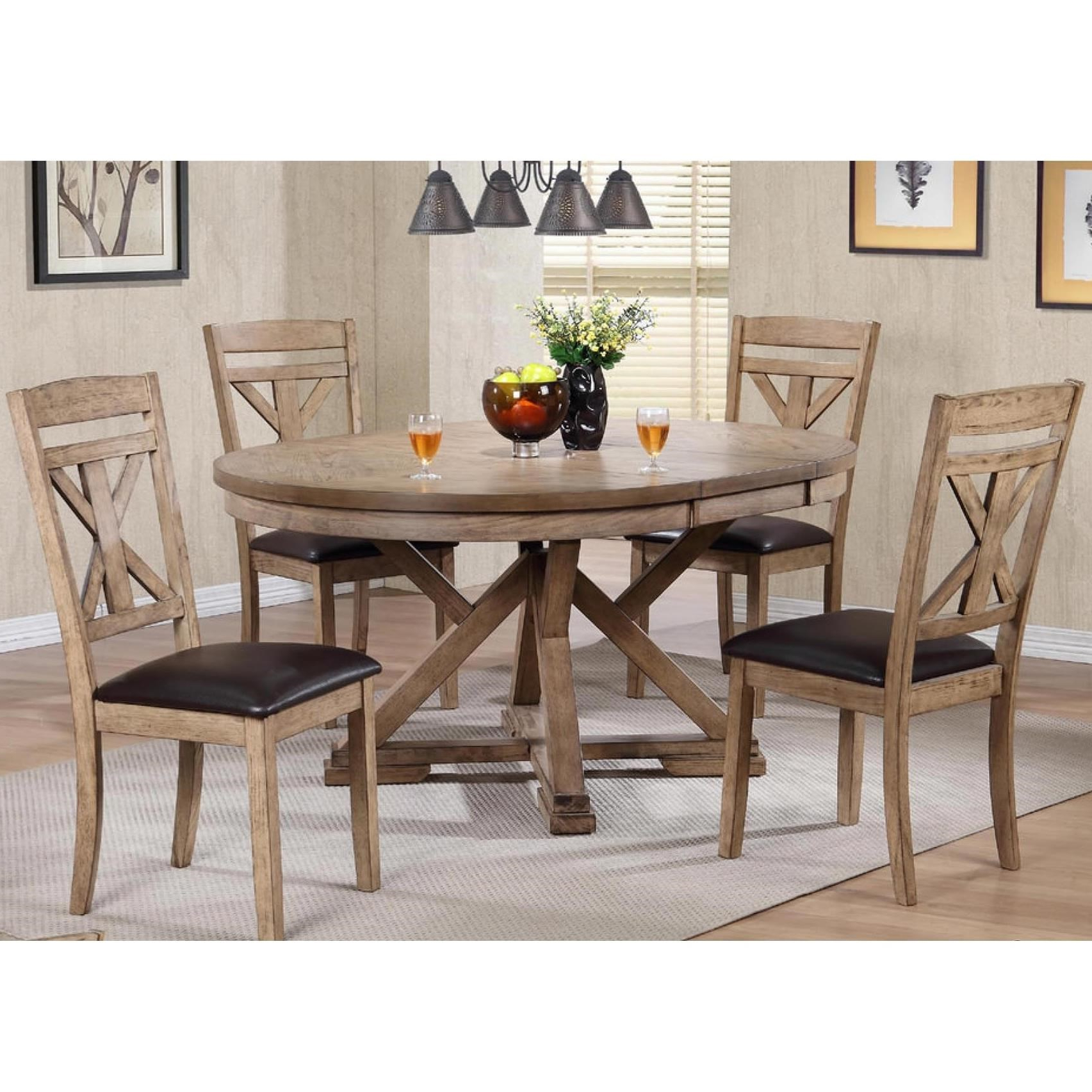 Popular 5 Piece Dining Sets Inside Grandview 5 Piece Dining Setwinners Only At Dunk & Bright Furniture (View 6 of 20)