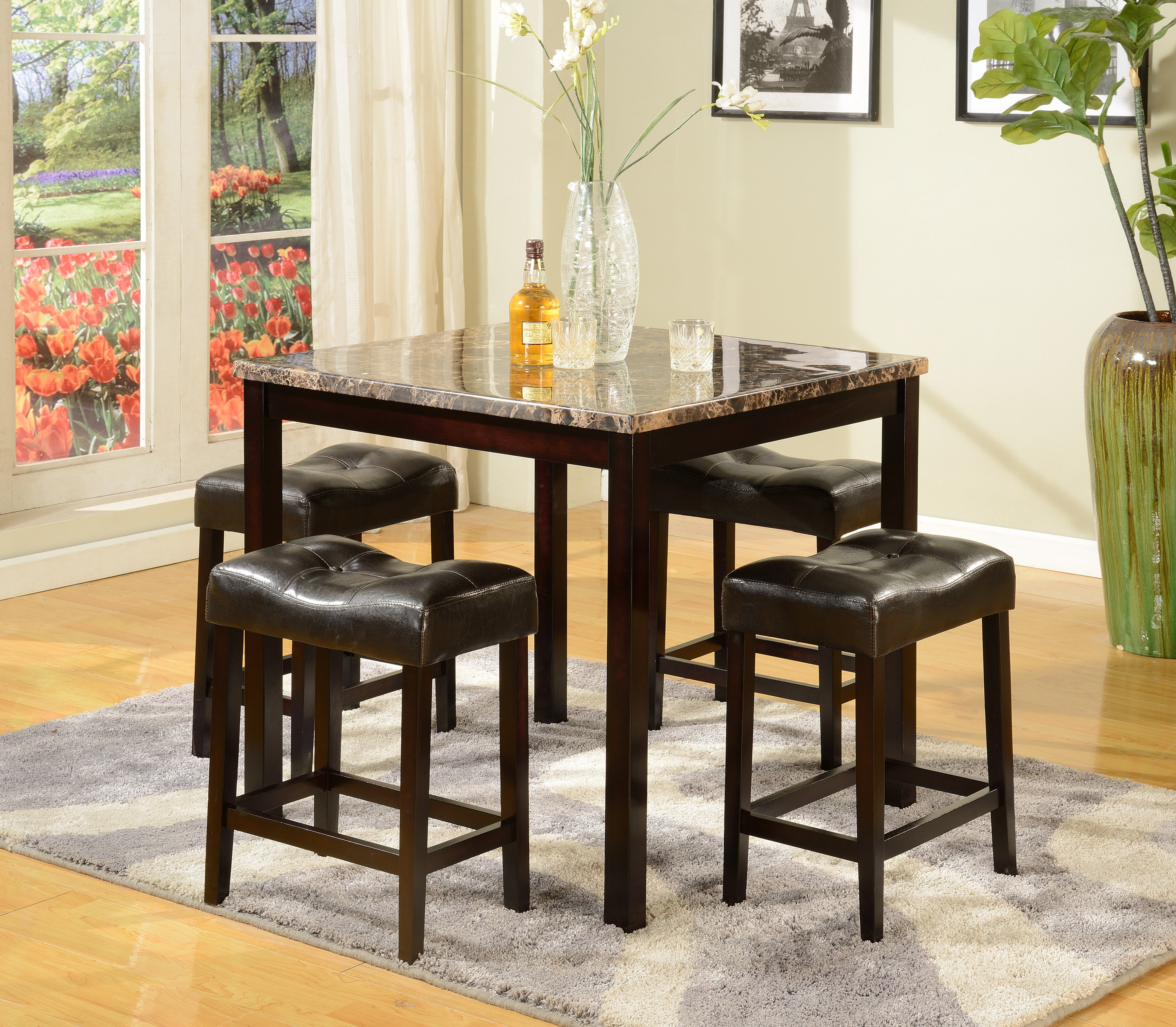 Popular Askern 3 Piece Counter Height Dining Sets (Set Of 3) Pertaining To Octavia 5 Piece Counter Height Dining Set (View 16 of 20)
