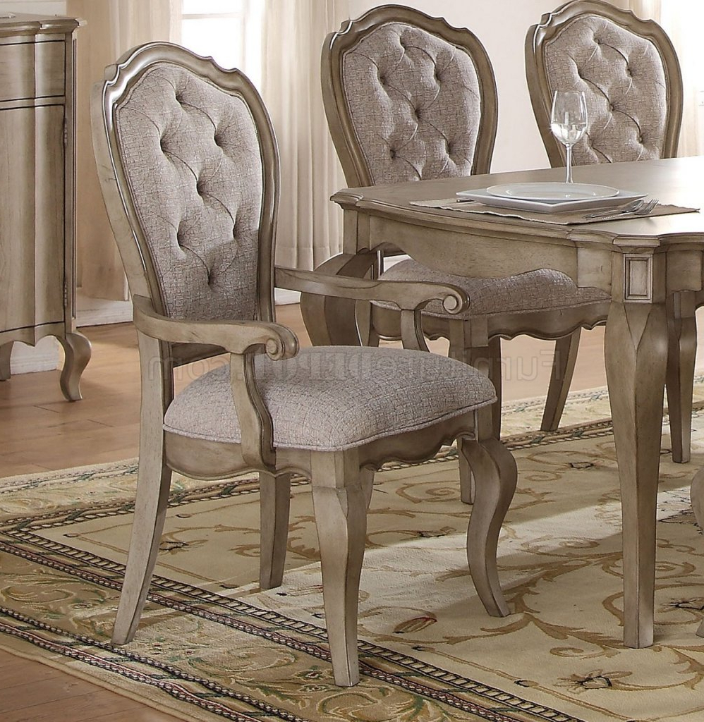 Popular Chelmsford 3 Piece Dining Sets Inside Chelmsford 66050 Dining Table In Antique Taupeacme W/options (View 17 of 20)