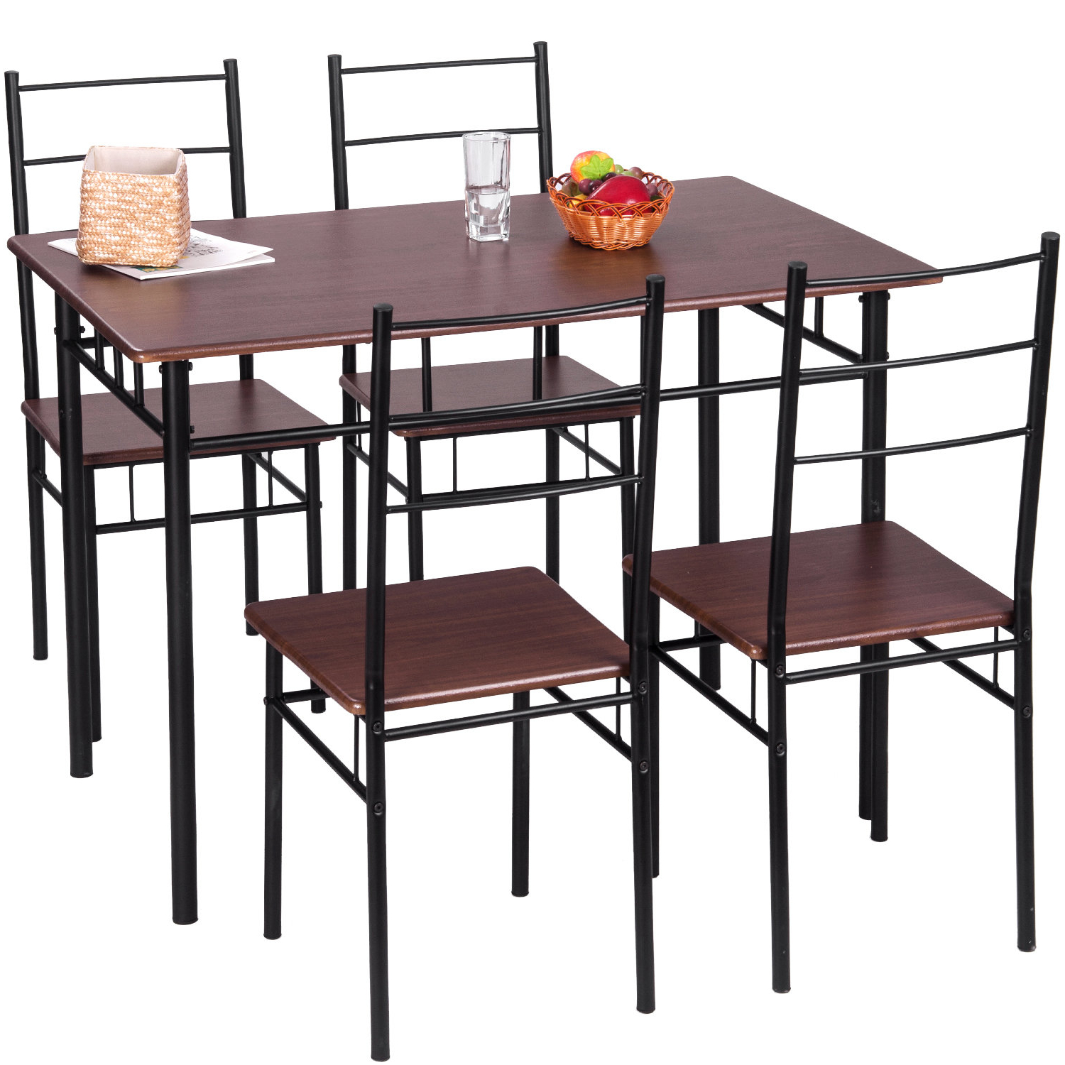 Popular Ephraim 5 Piece Dining Sets Intended For 5 Piece Breakfast Nook Dining Set (View 18 of 20)