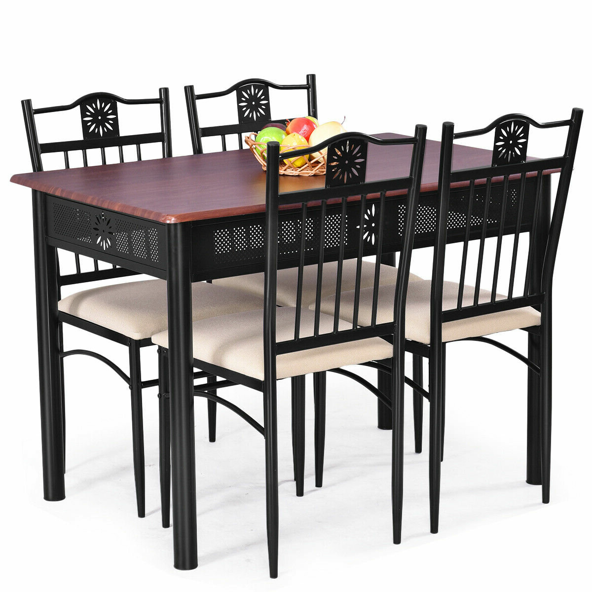 Popular Ganya 5 Piece Dining Set With Regard To Miskell 5 Piece Dining Sets (View 6 of 20)