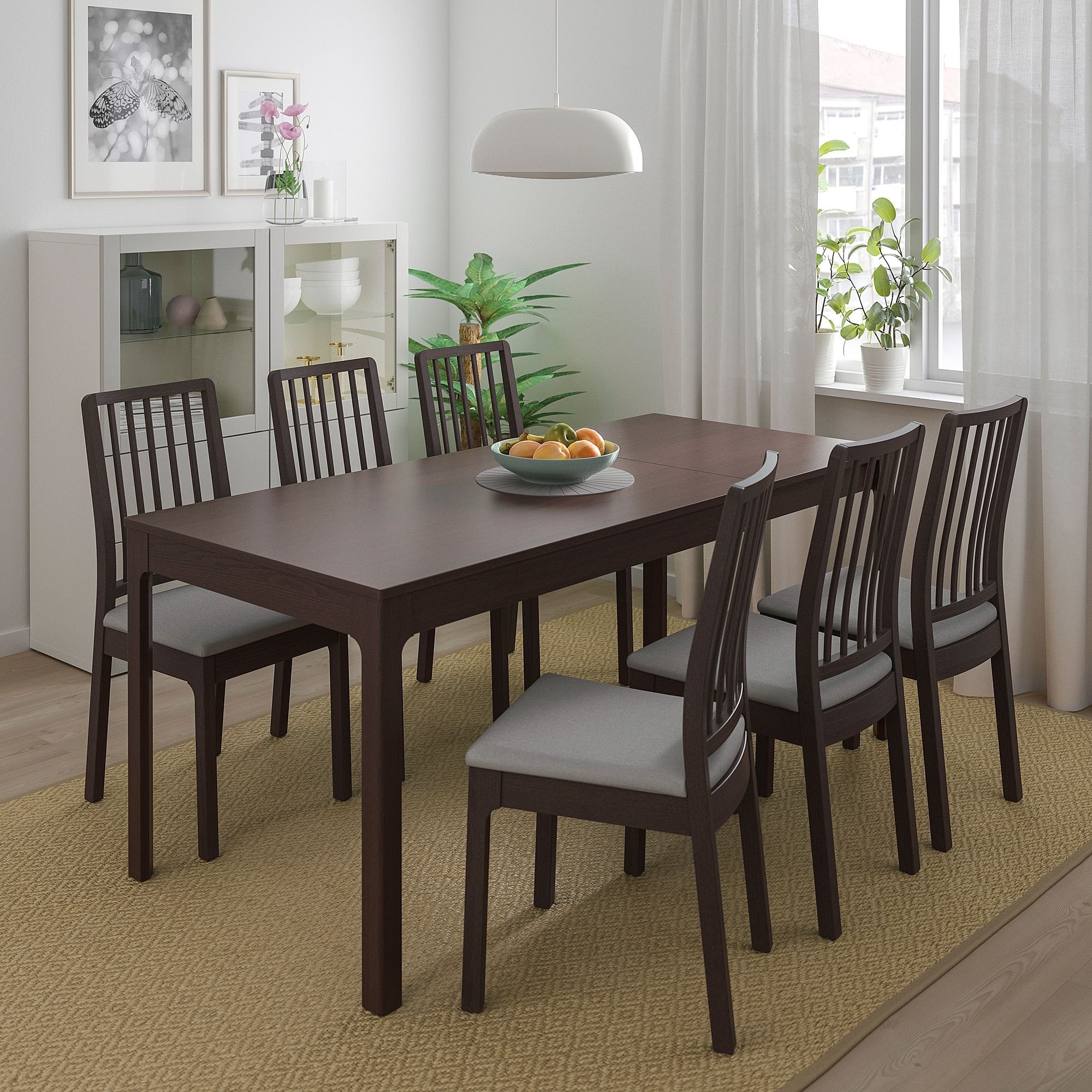 Popular Liles 5 Piece Breakfast Nook Dining Sets Pertaining To Ikea – Ekedalen / Table And 4 Chairs Dark Brown, Orrsta Light Gray (View 15 of 20)