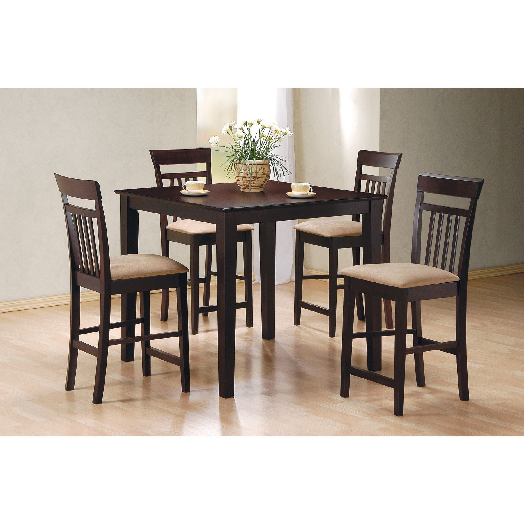 Popular Miskell 5 Piece Dining Sets Intended For Coaster Company Cappuccino 5 Piece Dining Set (cappuccino Counter (View 7 of 20)